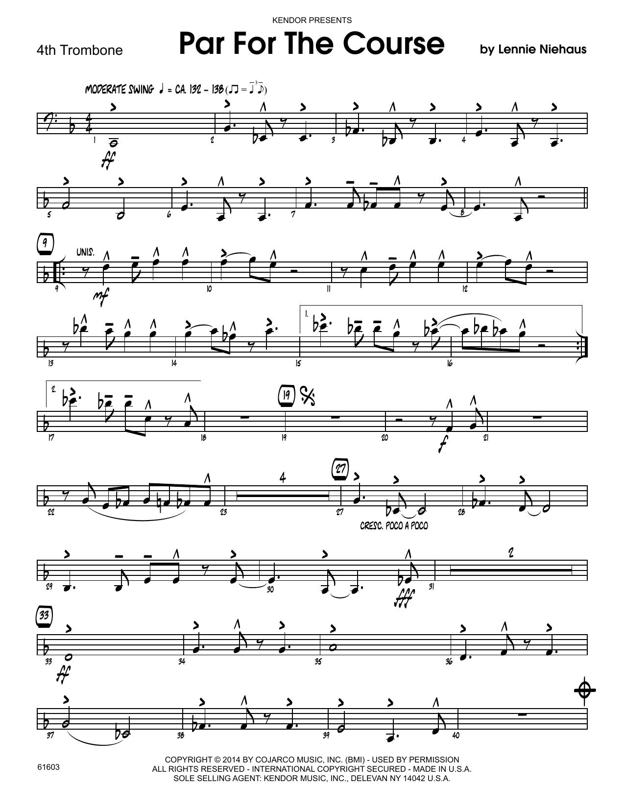 Par For The Course - 3rd Trombone