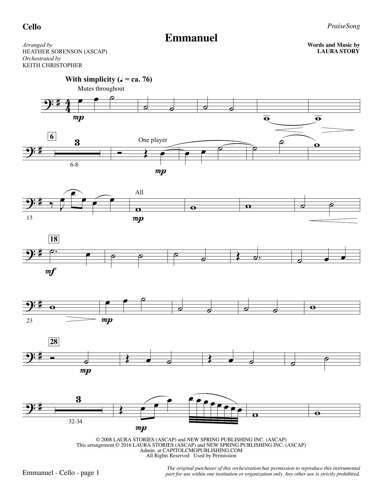 Emmanuel - Cello