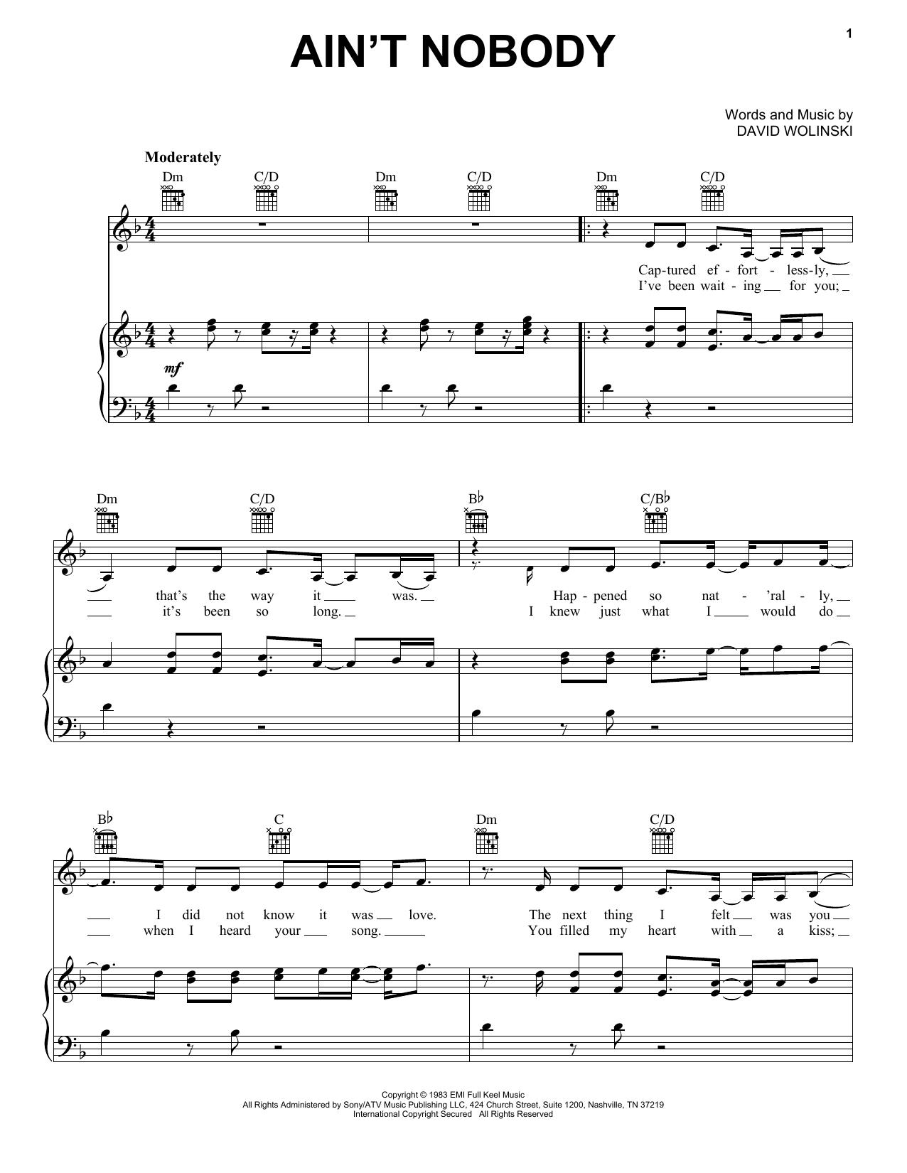 Partition piano Ain't Nobody de Jasmine Thompson - Piano Voix Guitare (Mélodie Main Droite)