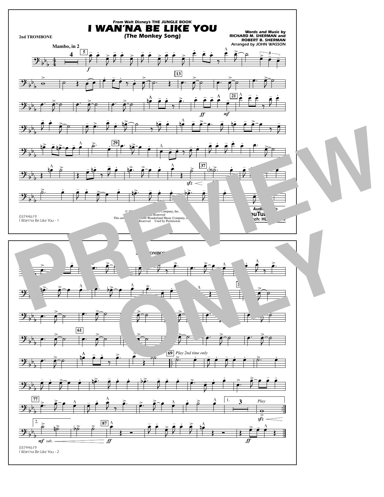 Robert B. Sherman - I Wan'na Be Like You - 2nd Trombone