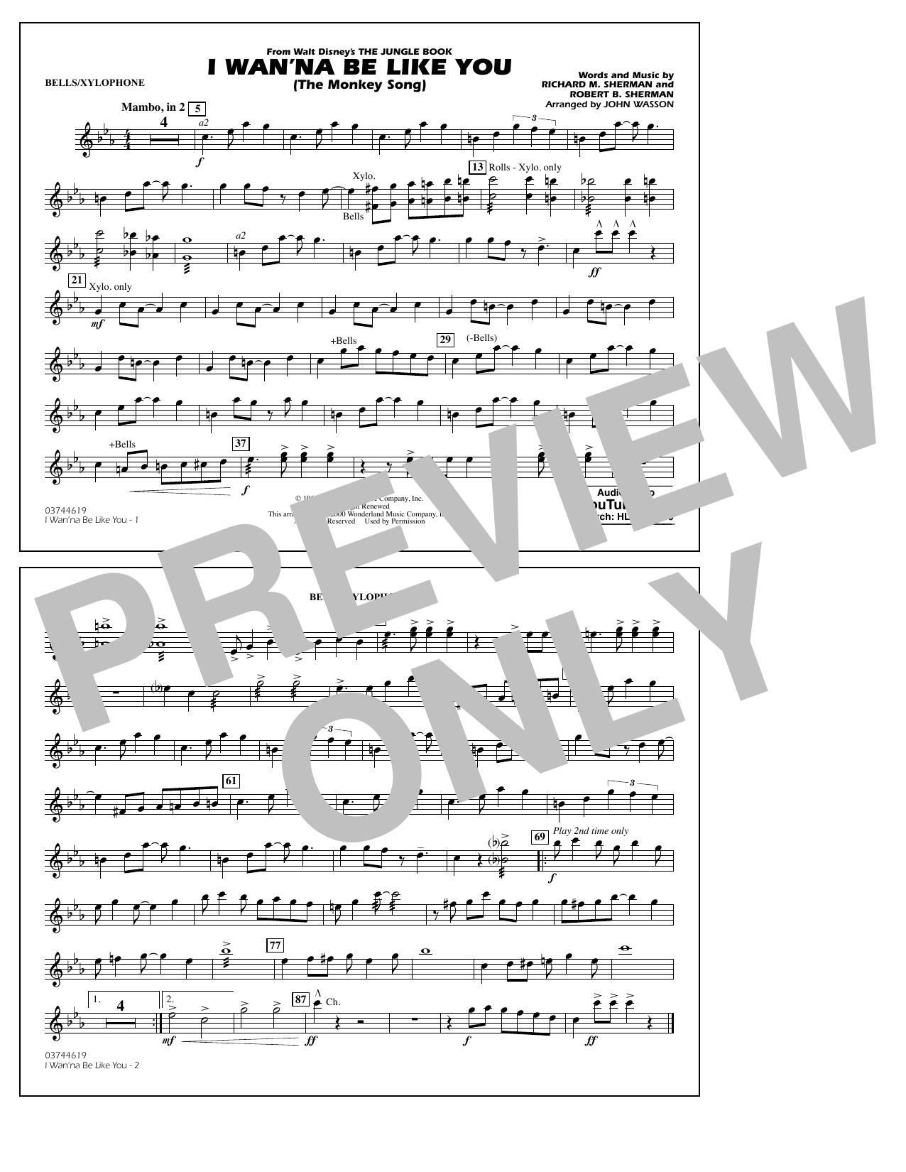Robert B. Sherman - I Wan'na Be Like You - Bells/Xylophone