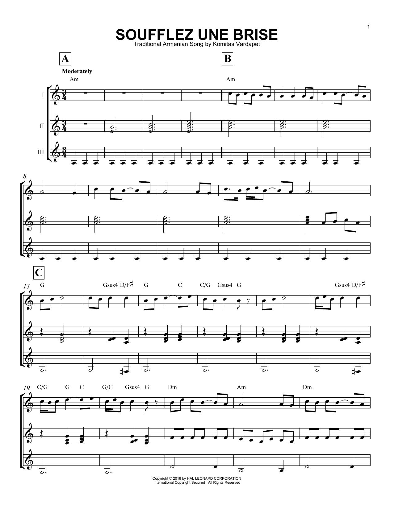 Partition autre Soufflez Une Brise de Traditional Armenian Song - Autre