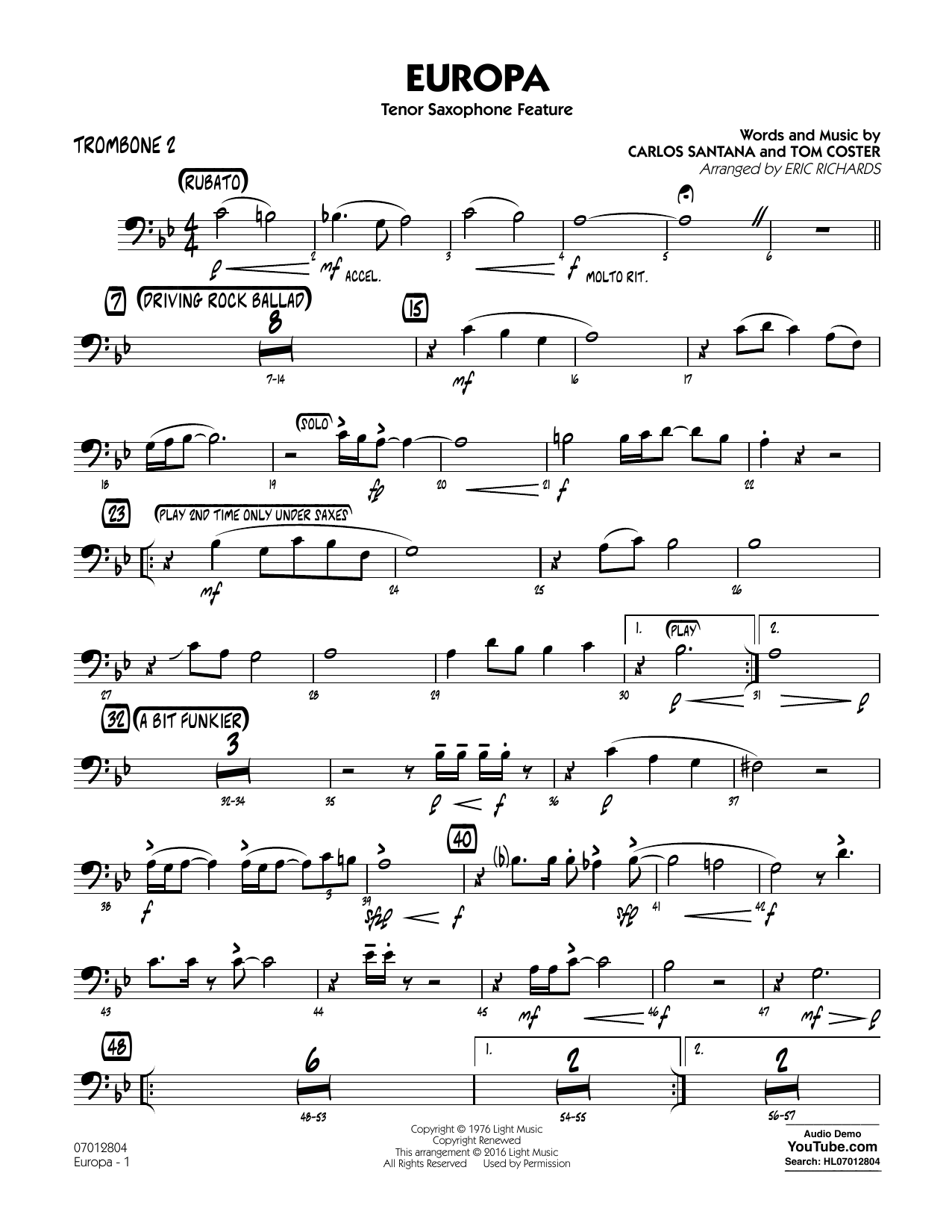 Tom Coster - Europa - Trombone 2