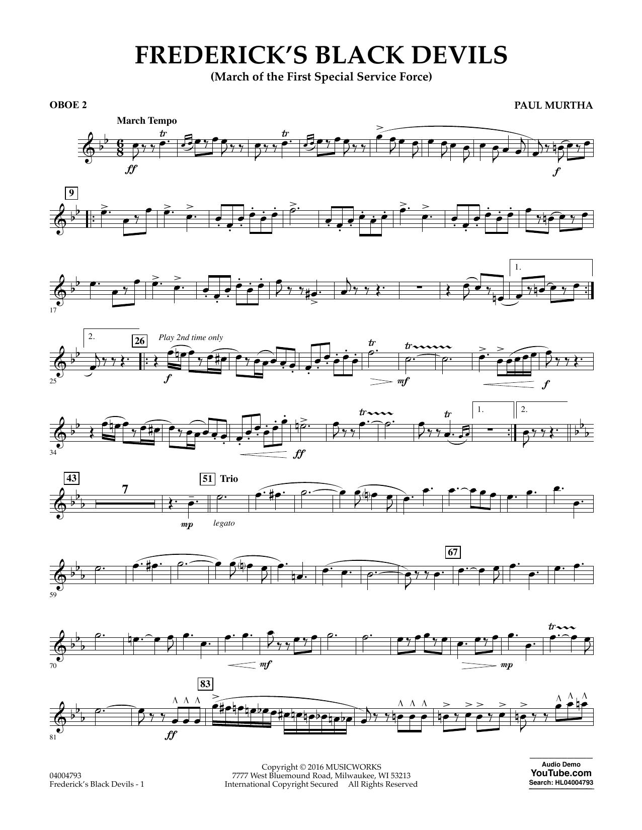 Frederick's Black Devils - Oboe 2