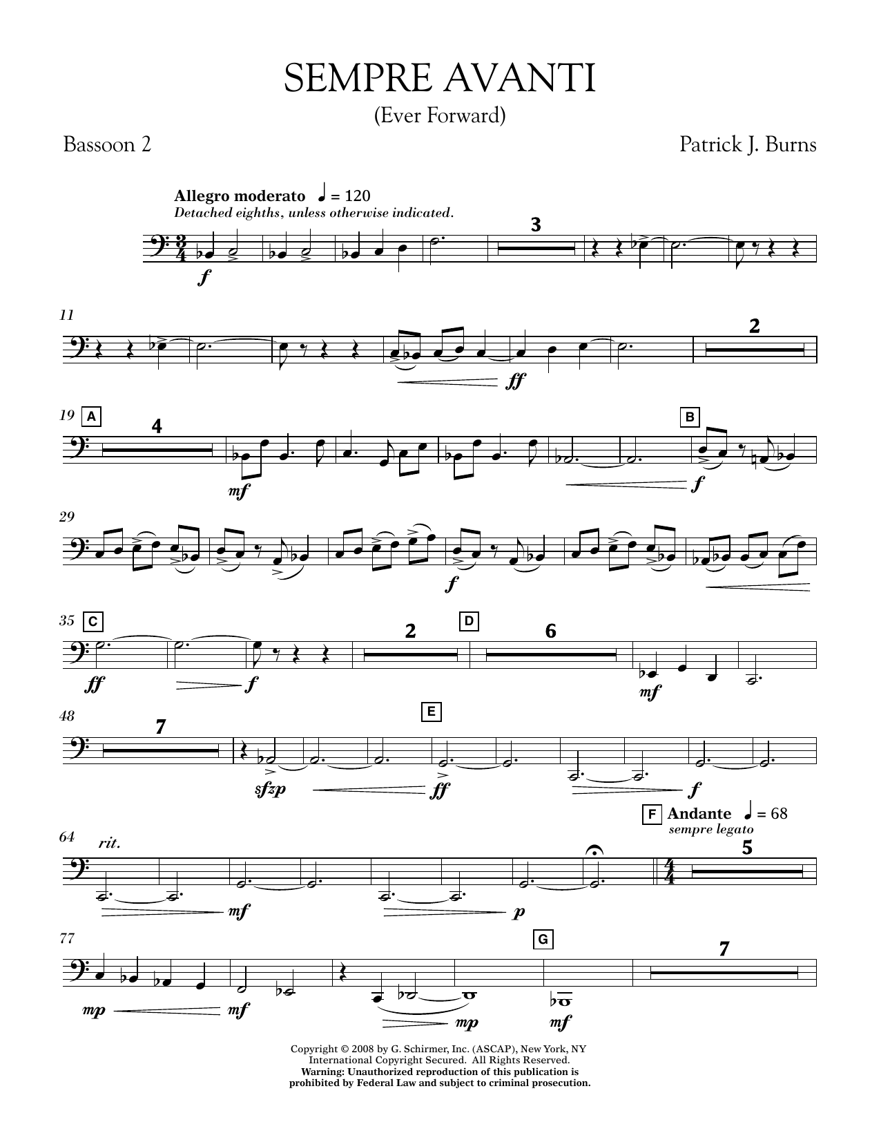 Sempre Avanti - Bassoon 2