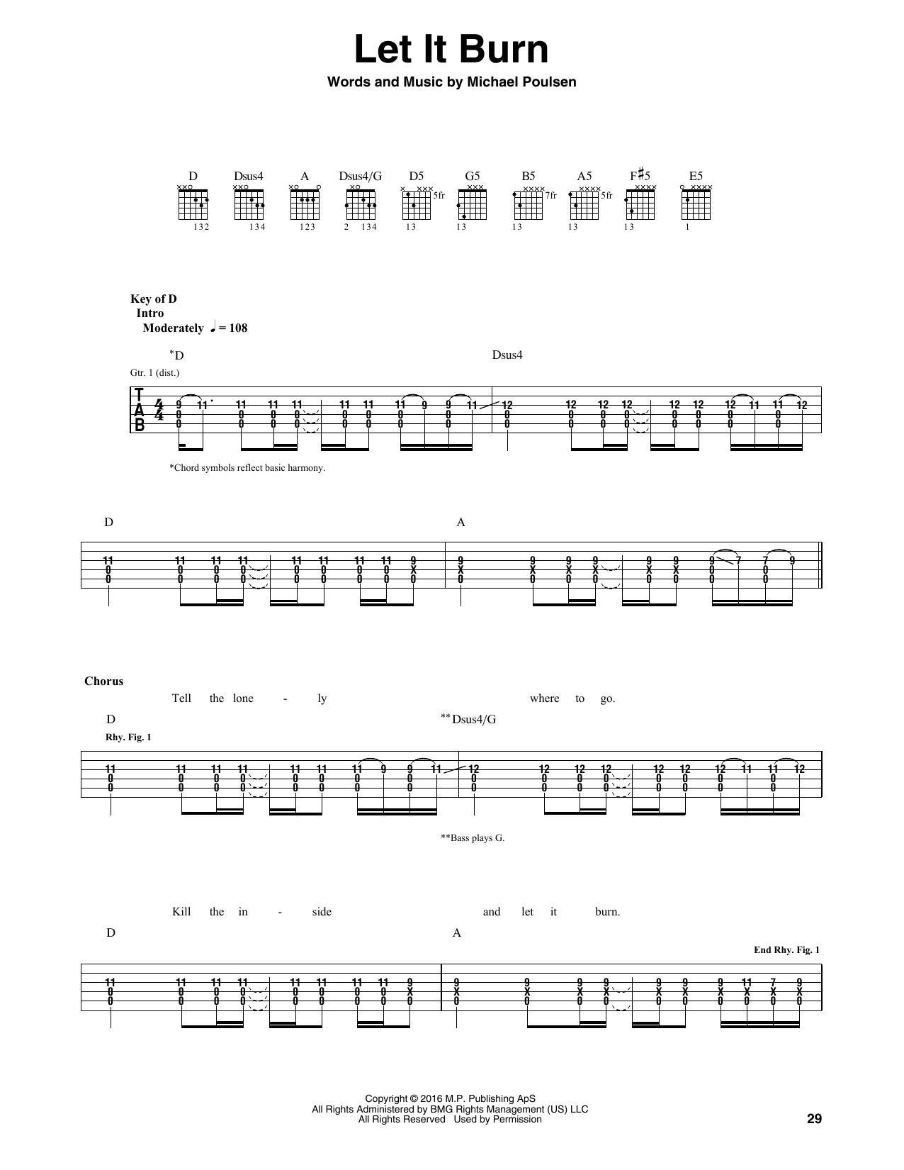 Tablature guitare Let It Burn de Volbeat - Tablature Guitare