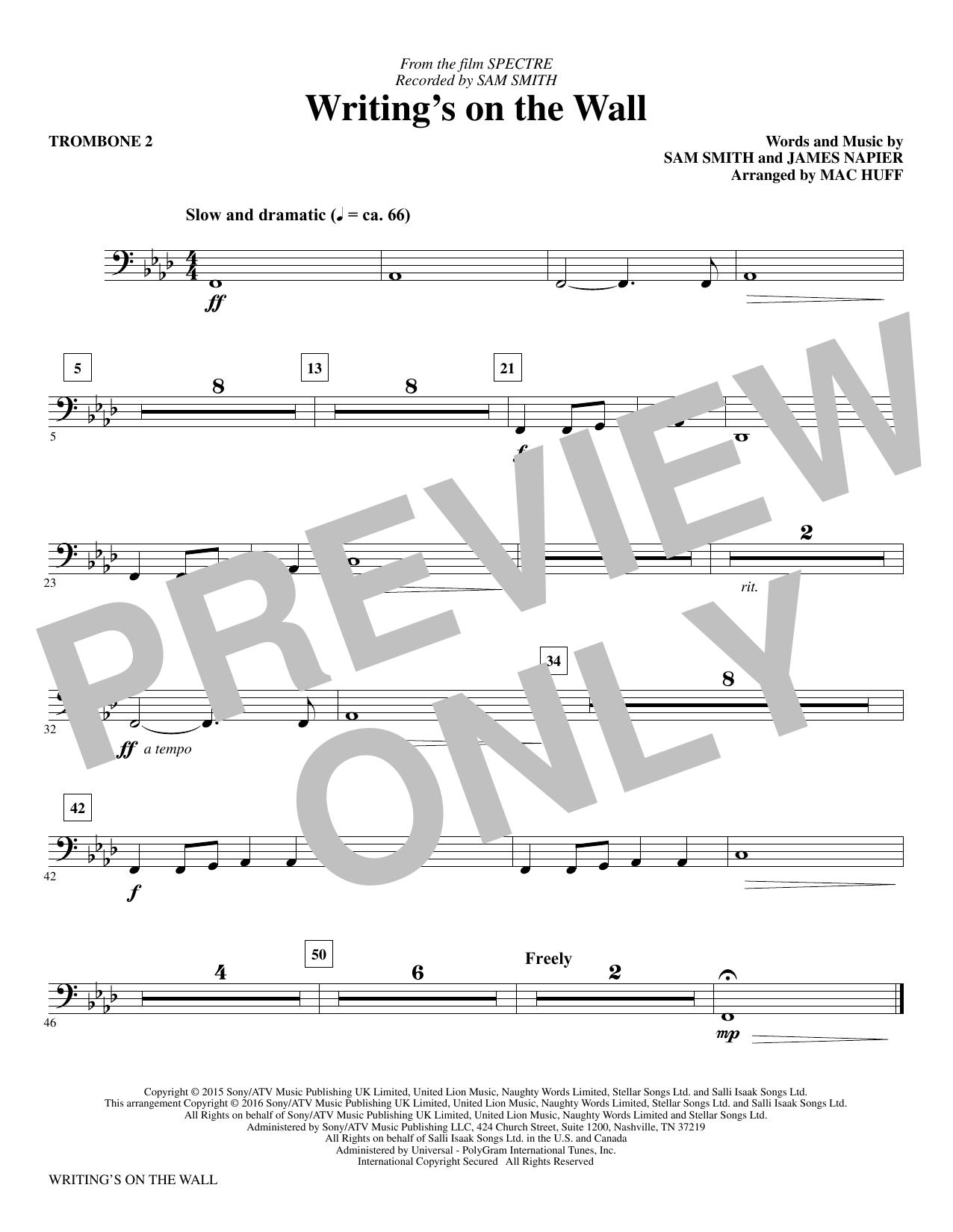 Writing's on the Wall - Trombone II
