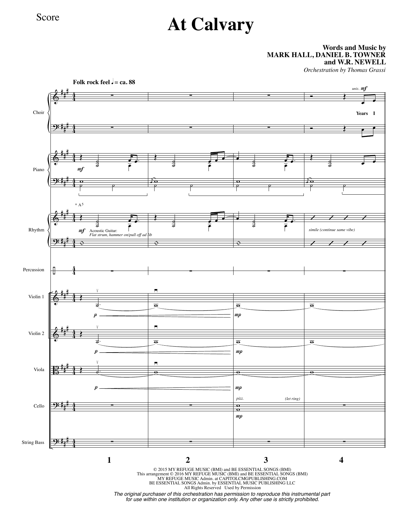 W.R. Newell - At Calvary - Full Score