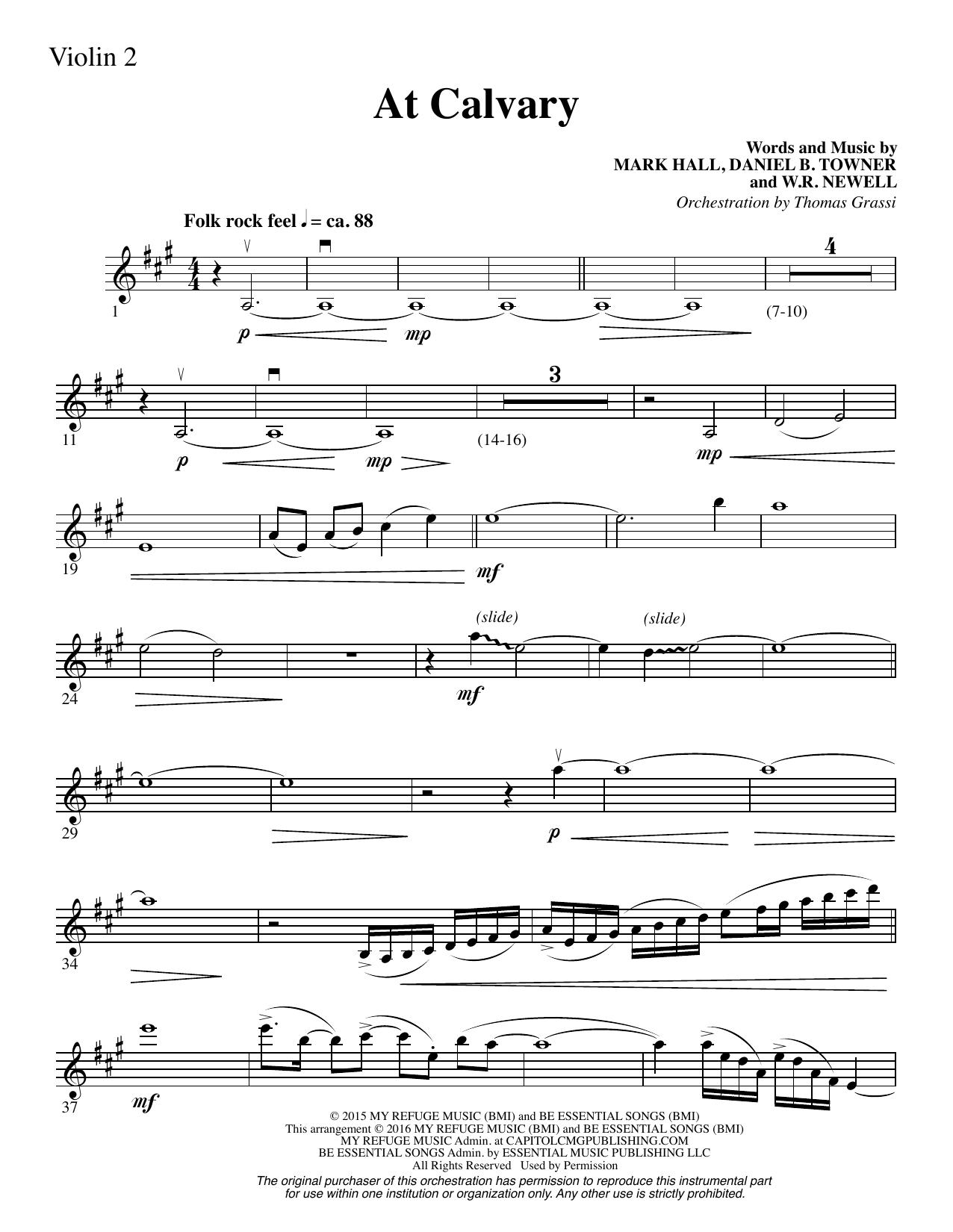 W.R. Newell - At Calvary - Violin 2