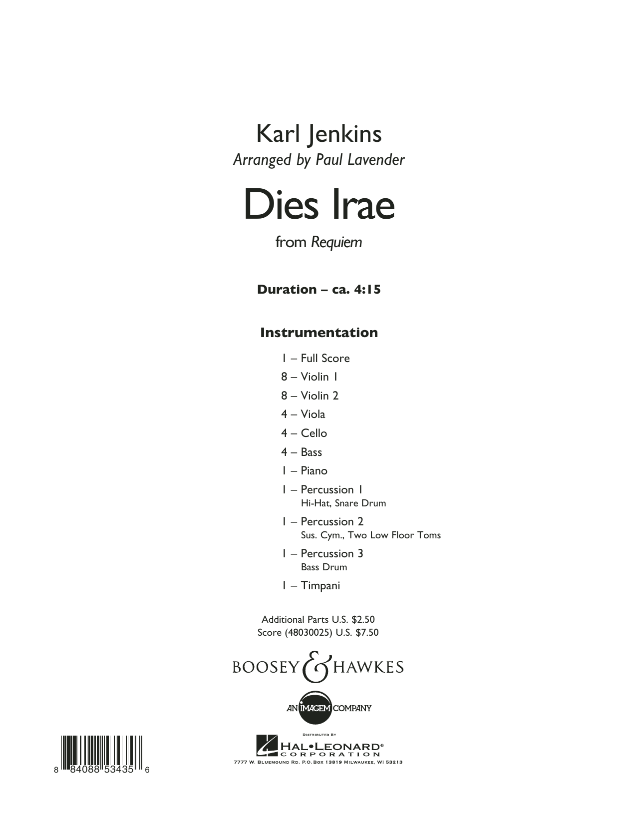 Dies Irae (from Requiem) - Conductor Score (Full Score)