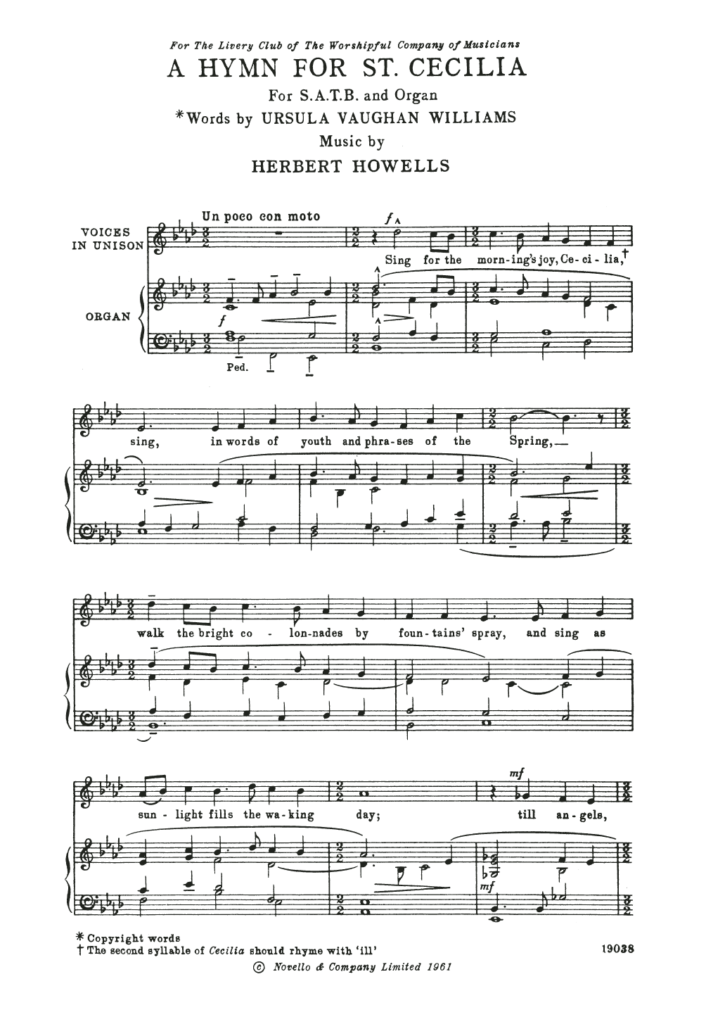 Herbert Howells - A Hymn For St Cecilia