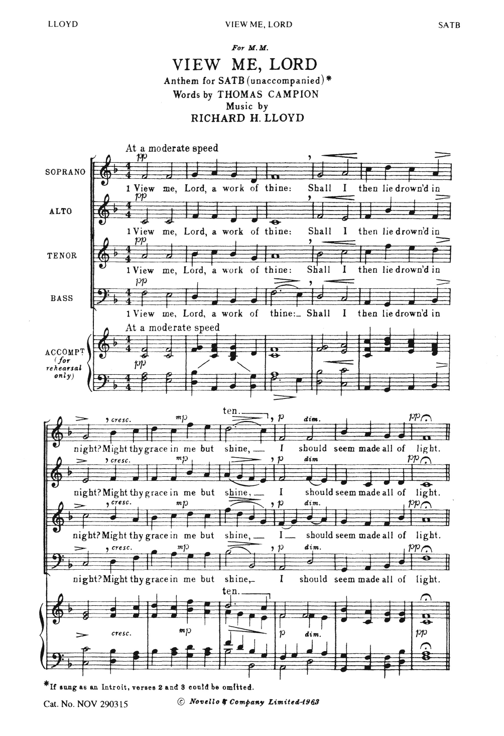 Richard H. Lloyd - View Me Lord