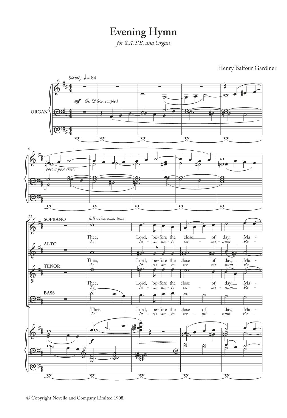 Henry Balfour Gardiner - Evening Hymn