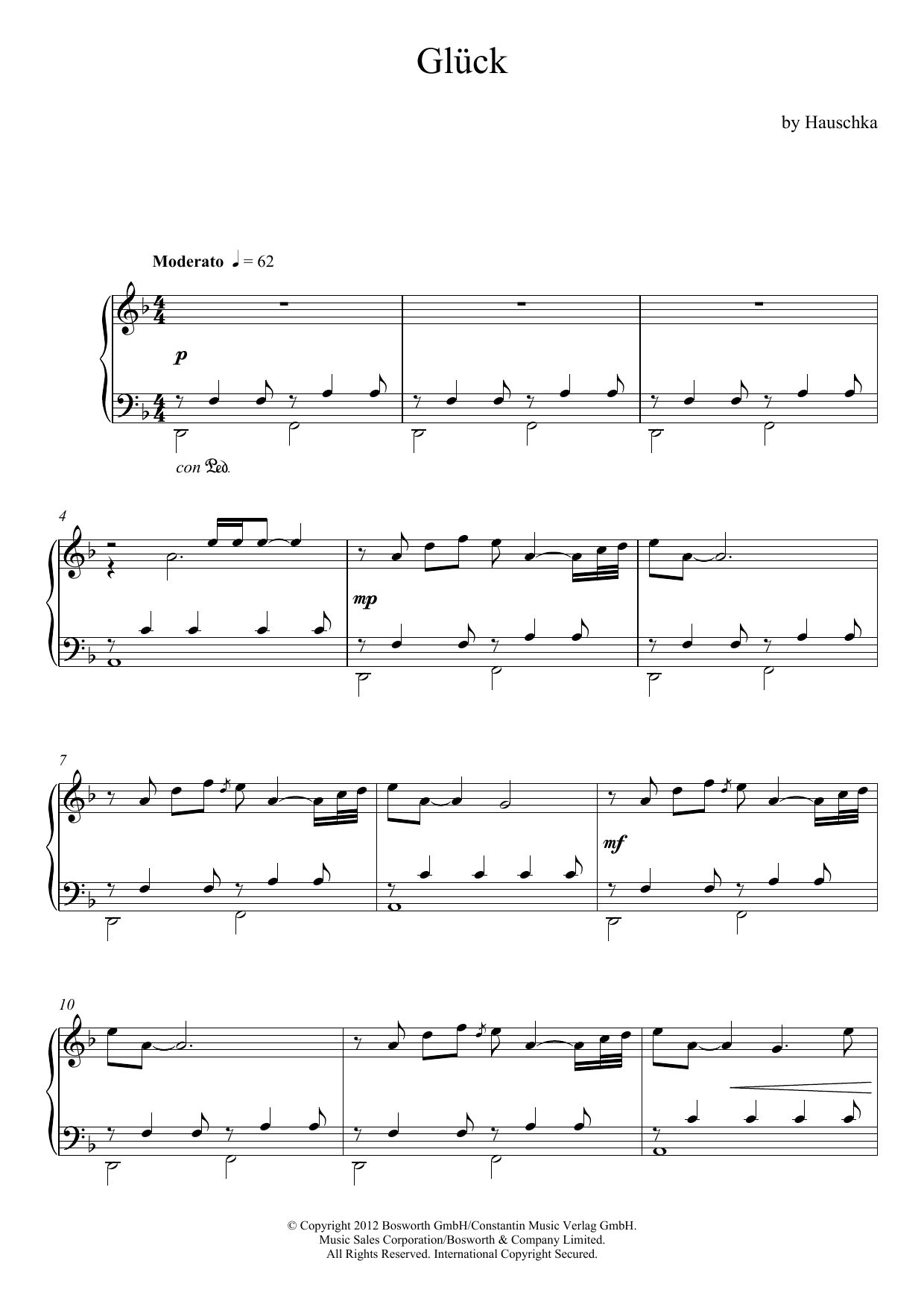 Hauschka - Gluck (Theme)