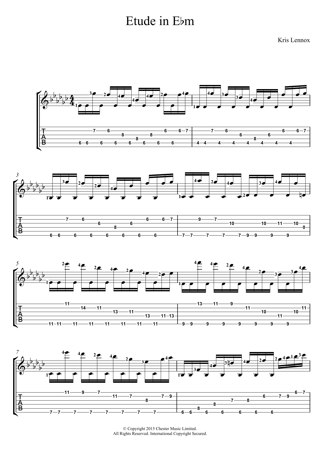 Kris Lennox - Etude In E Flat minor