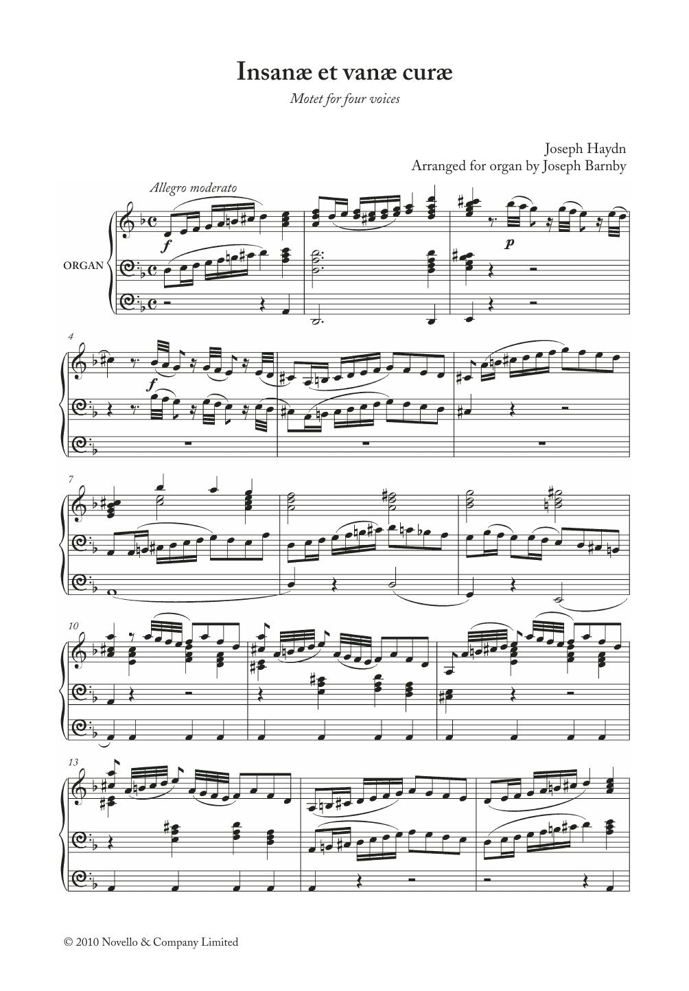 Franz Joseph Haydn - Insanae Et Vanae Curae