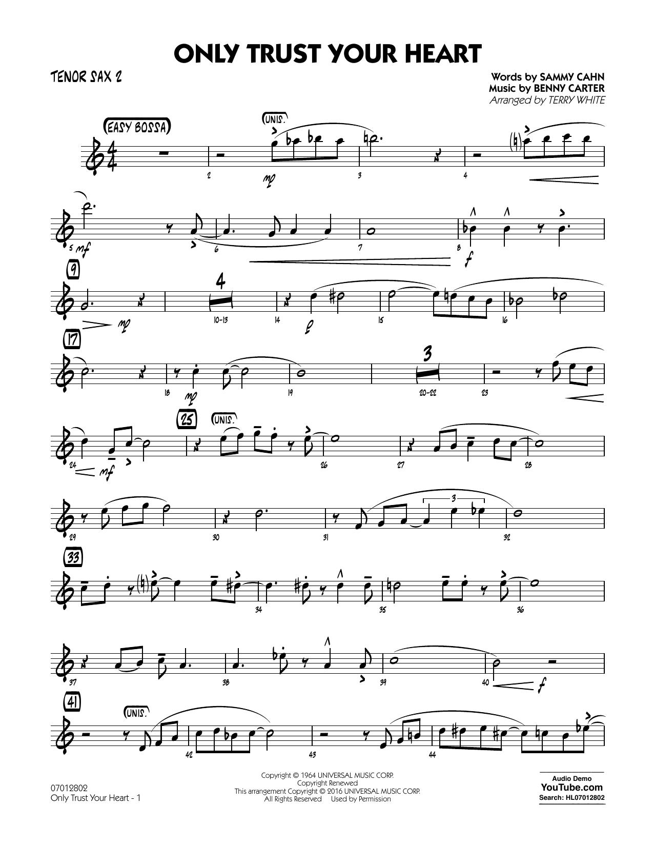 Sammy Cahn - Only Trust Your Heart - Tenor Sax 2