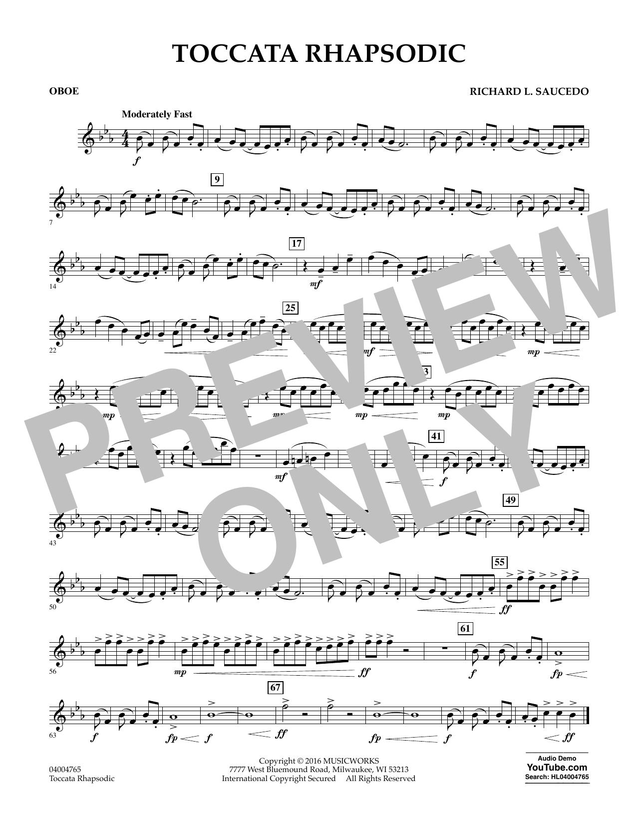 Toccata Rhapsodic - Oboe