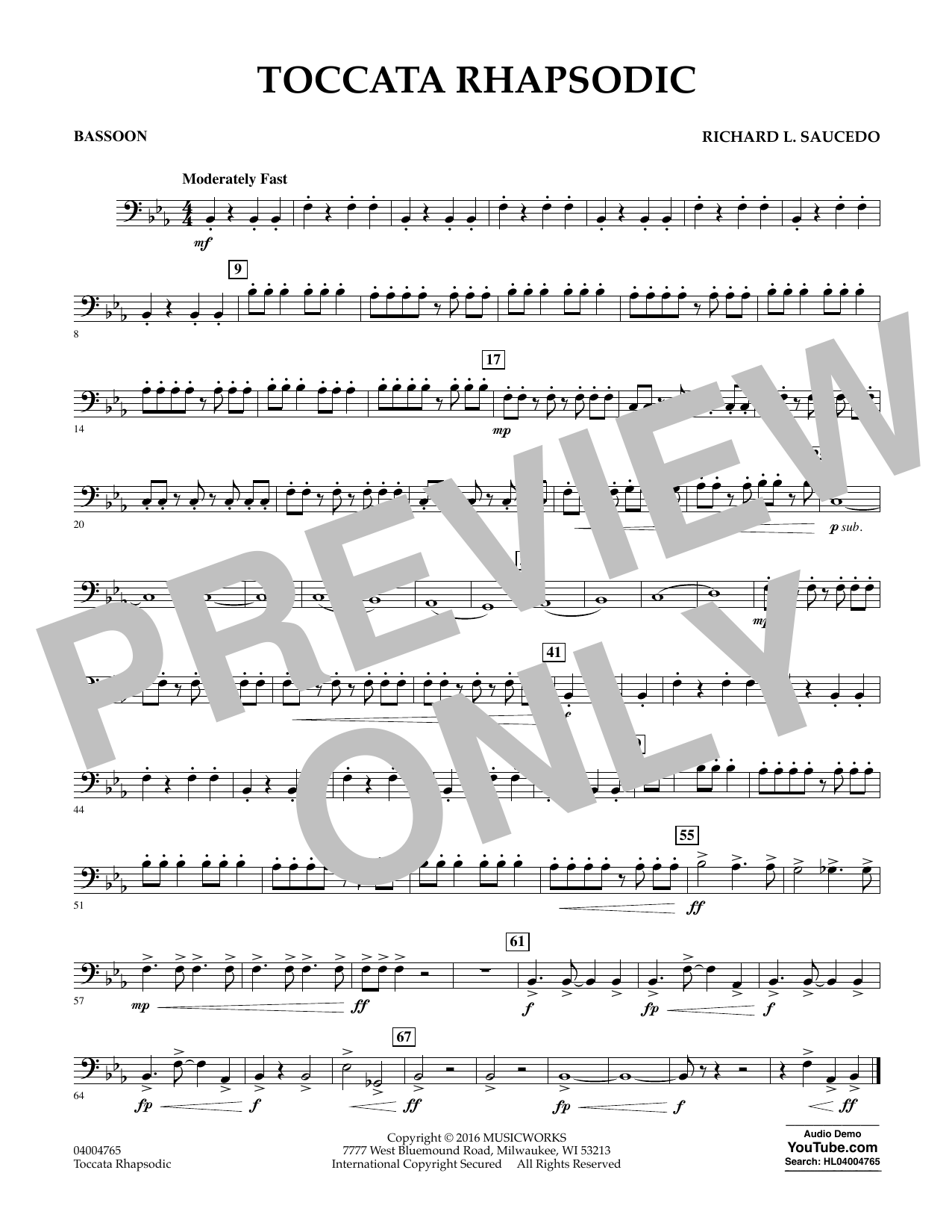 Toccata Rhapsodic - Bassoon