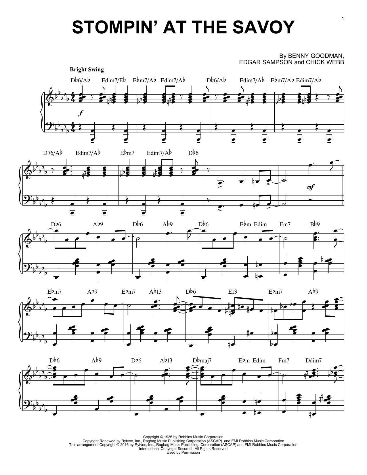Benny Goodman - Stompin' At The Savoy