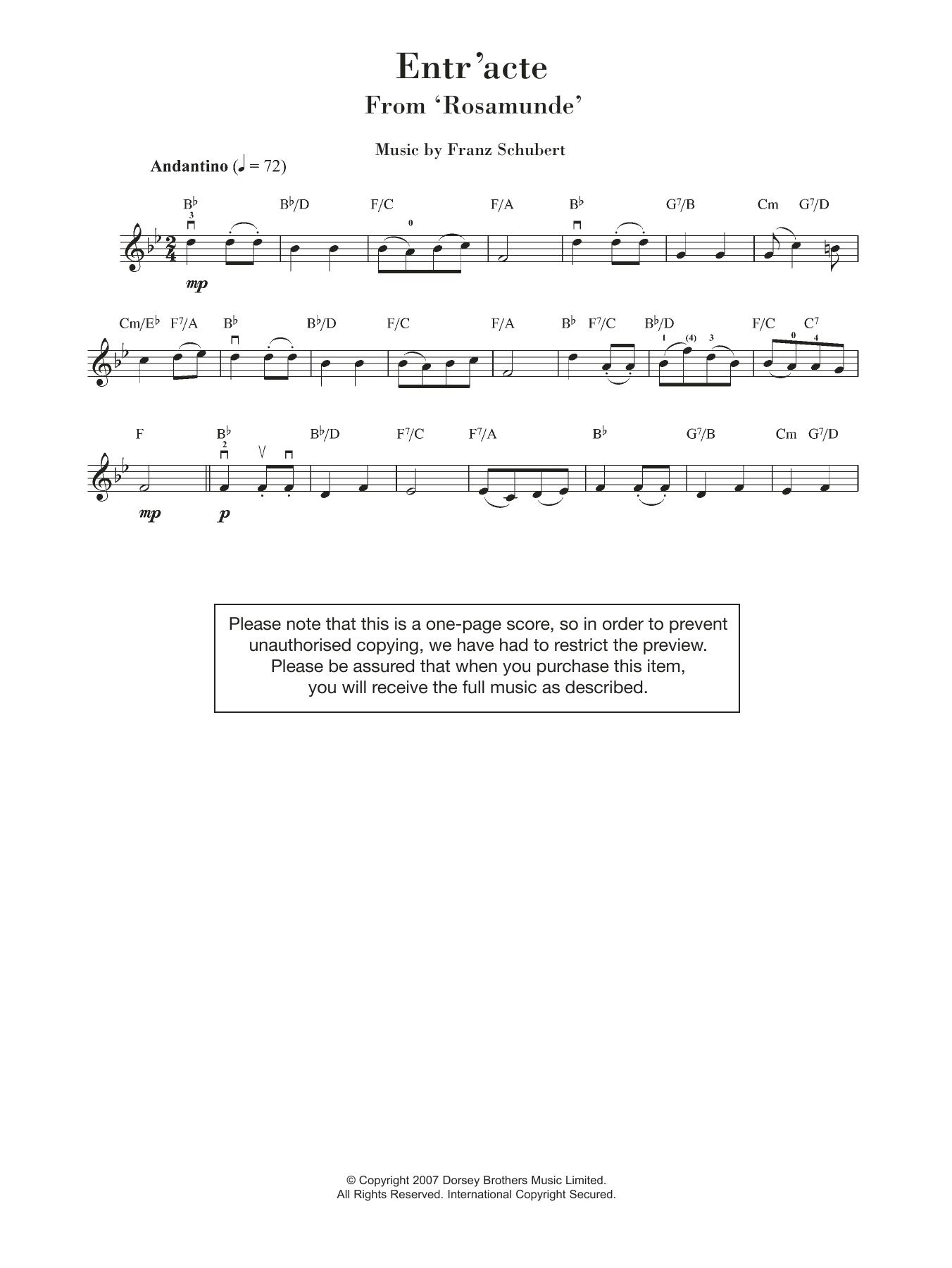 Franz Schubert - Rosamunde Entr'acte