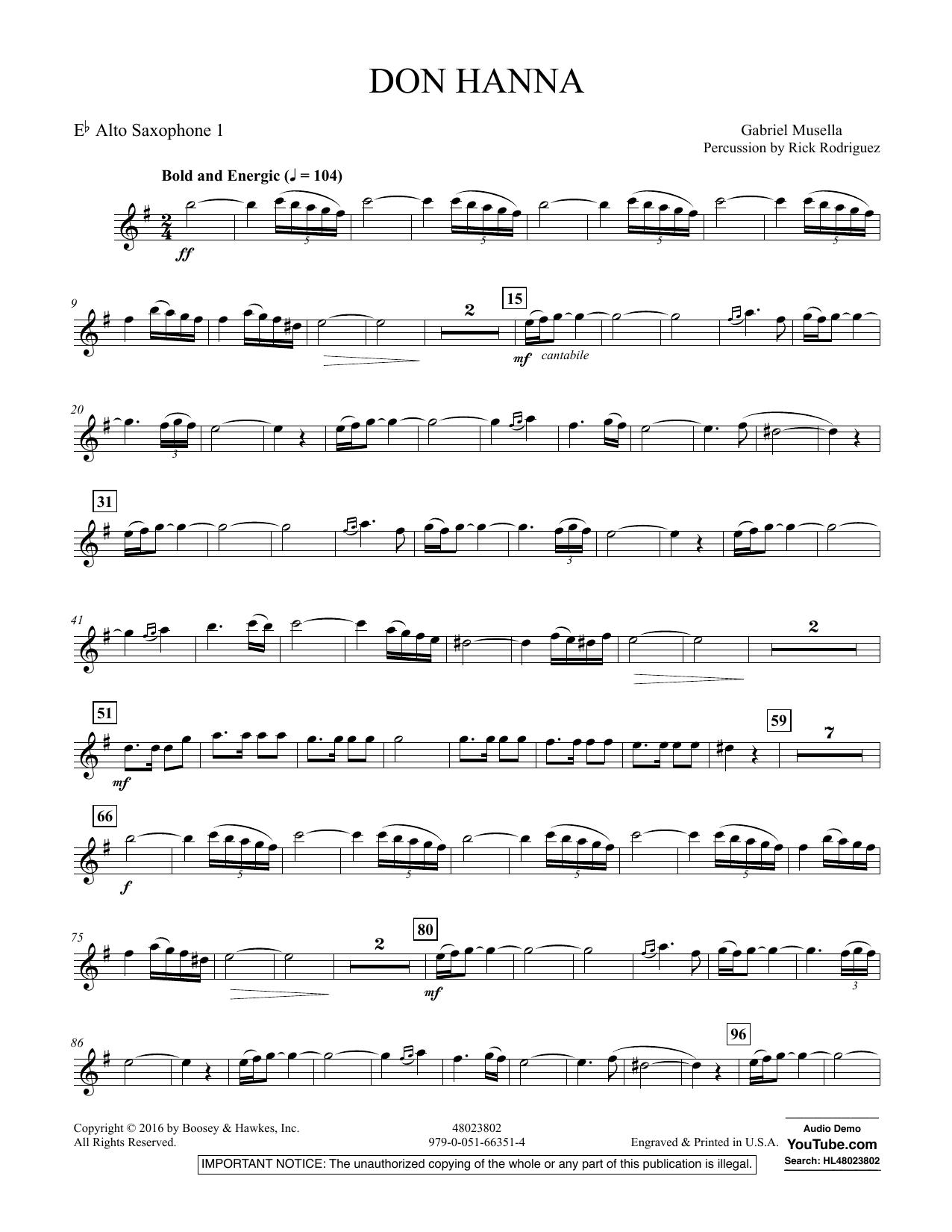 Don Hanna - Eb Alto Saxophone 1