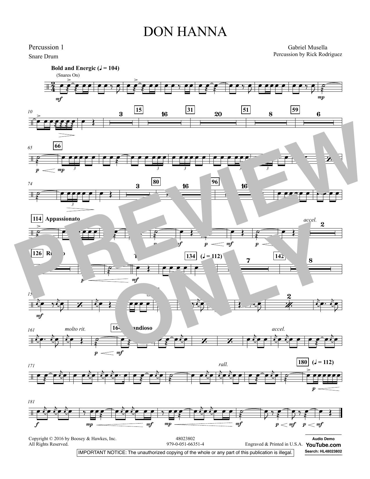 Don Hanna - Percussion 1
