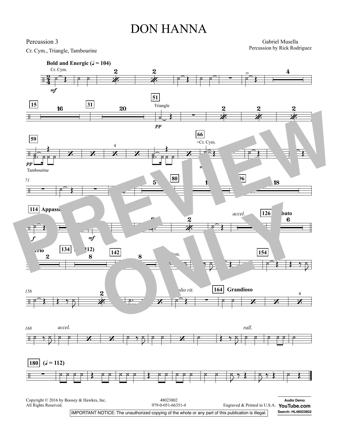 Don Hanna - Percussion 3