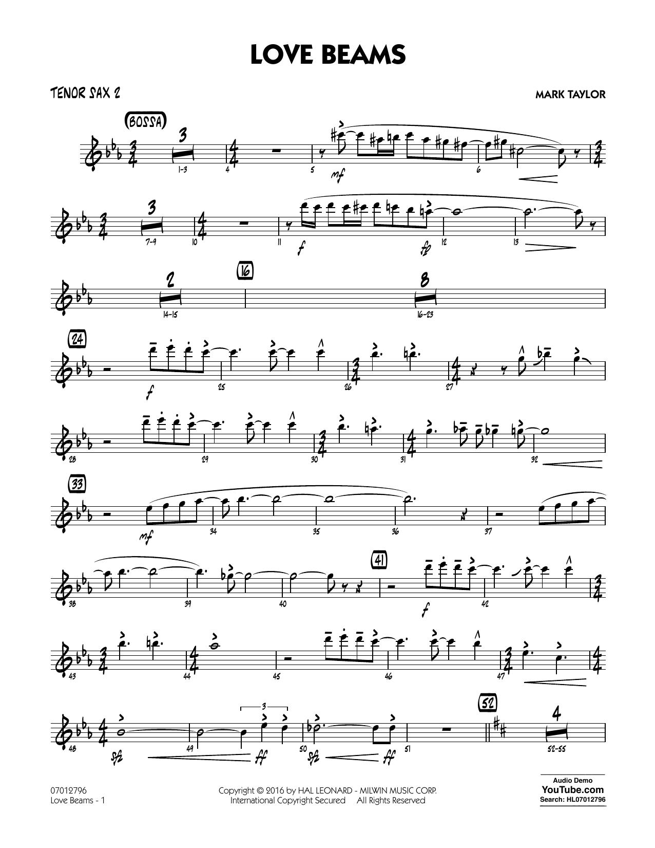 Love Beams - Tenor Sax 2