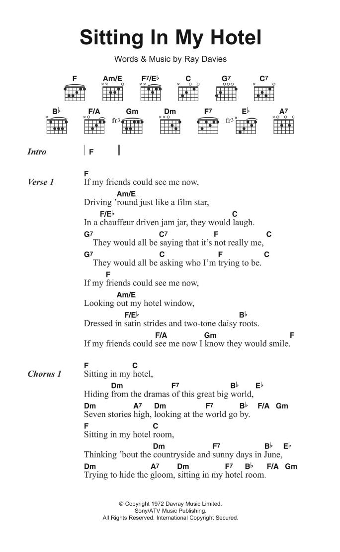 Sheet Music Digital Files To Print Licensed Ray Davies Digital