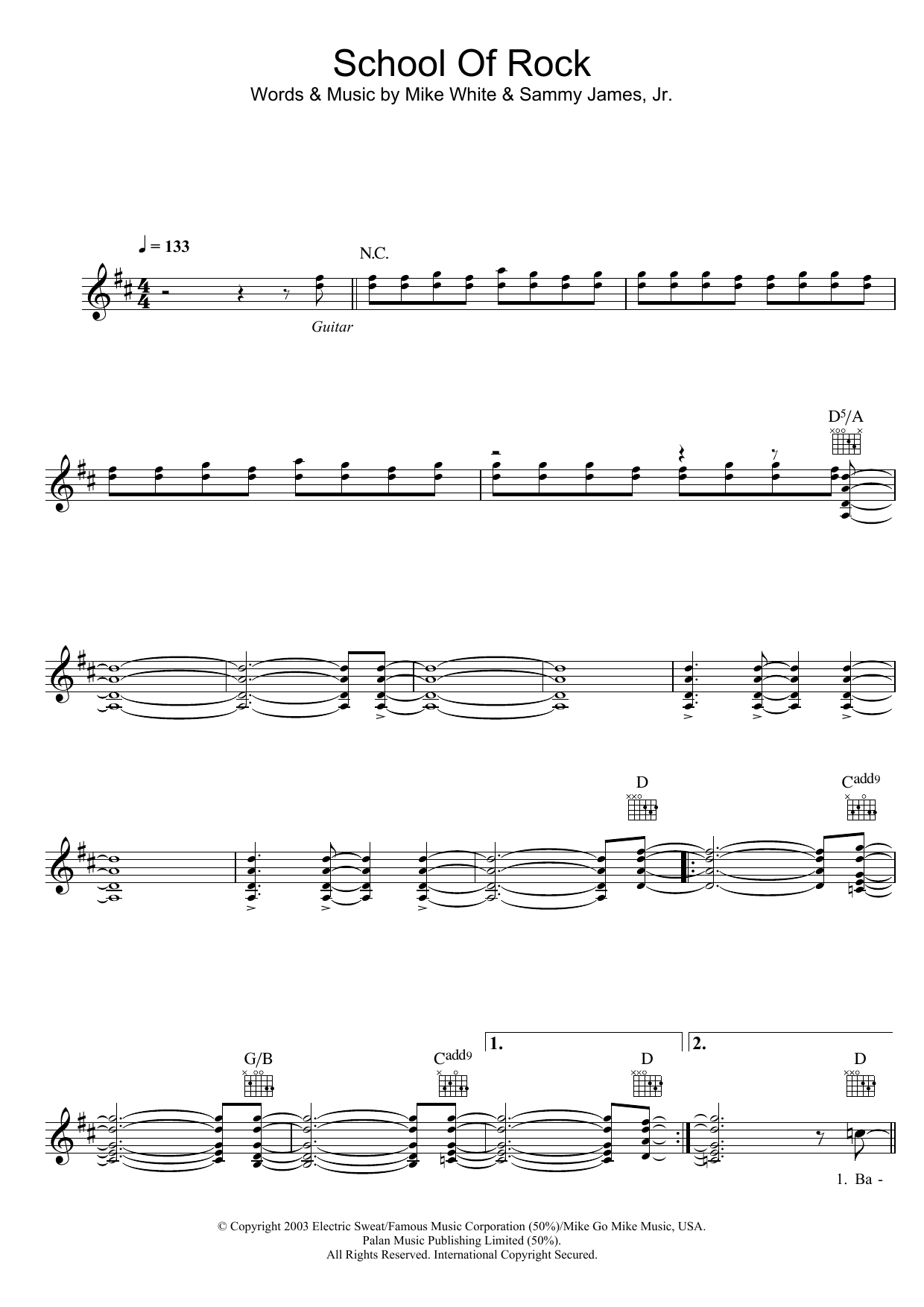 Sheet Music Digital Files To Print Licensed Jack Black Digital