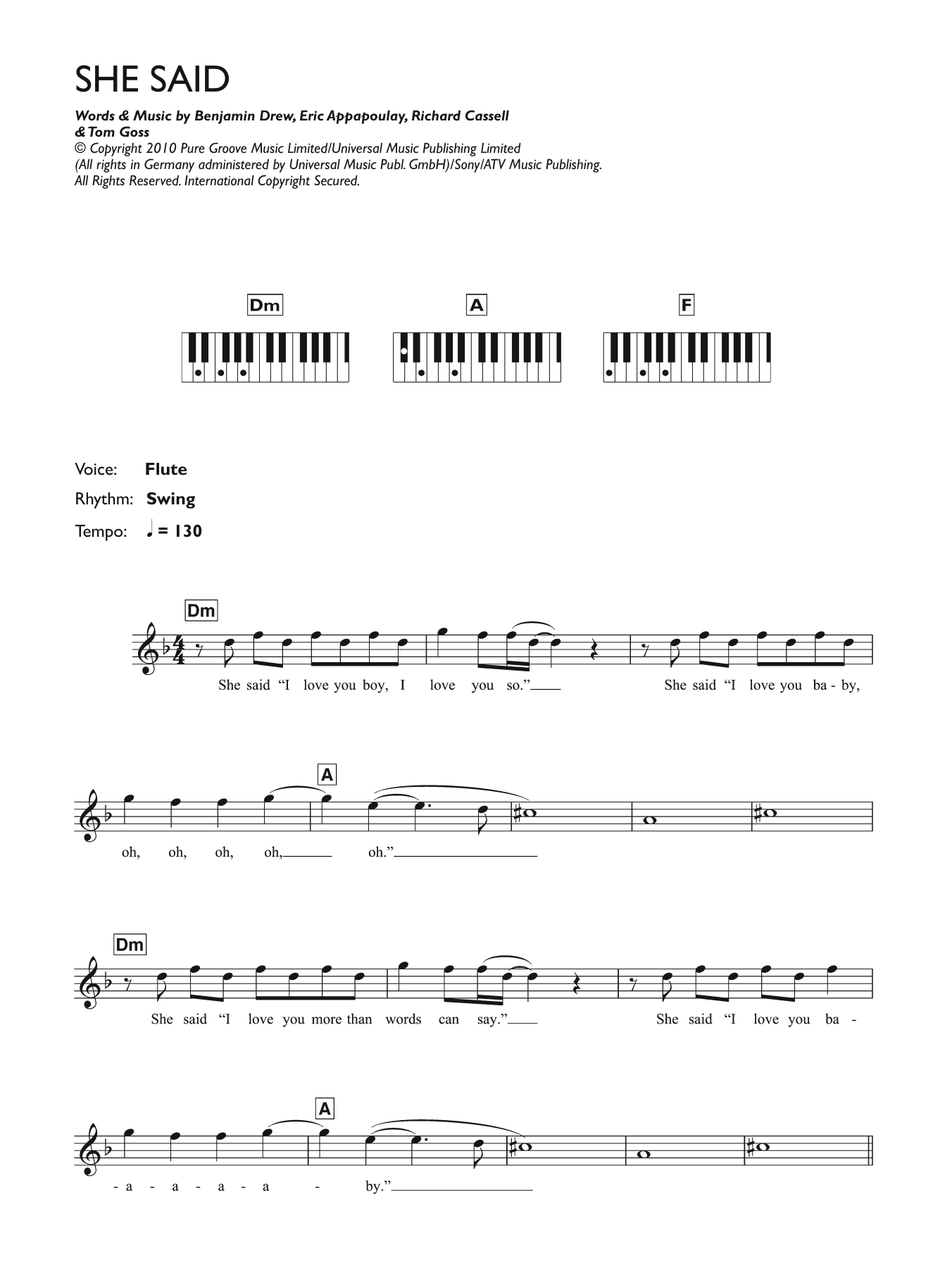 Piano chord hip hop music sheet music at stantons sheet music featured artist plan b she said hexwebz Choice Image