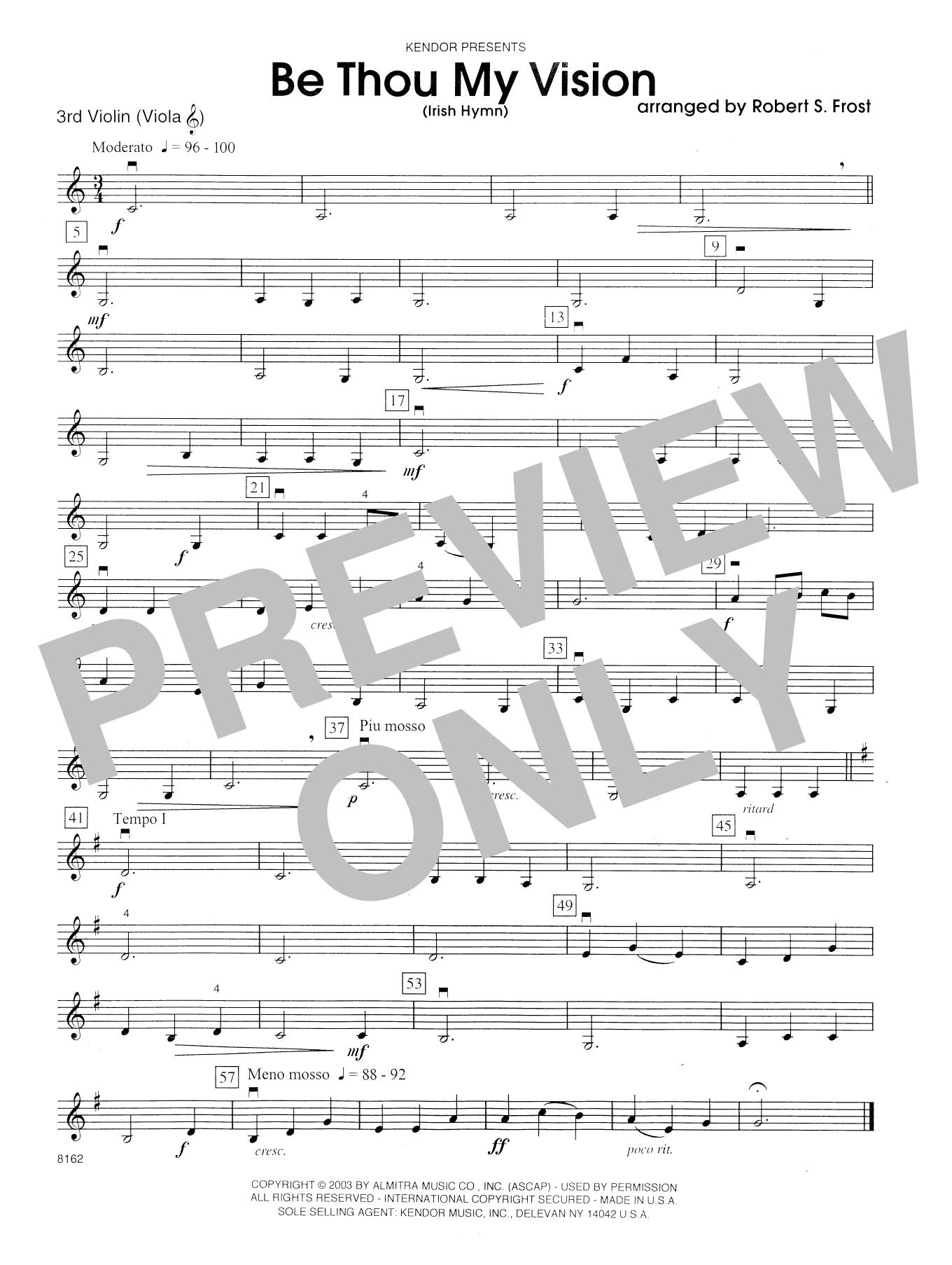 Be Thou My Vision Irish Hymn Violin 3 Viola Tc At Stantons