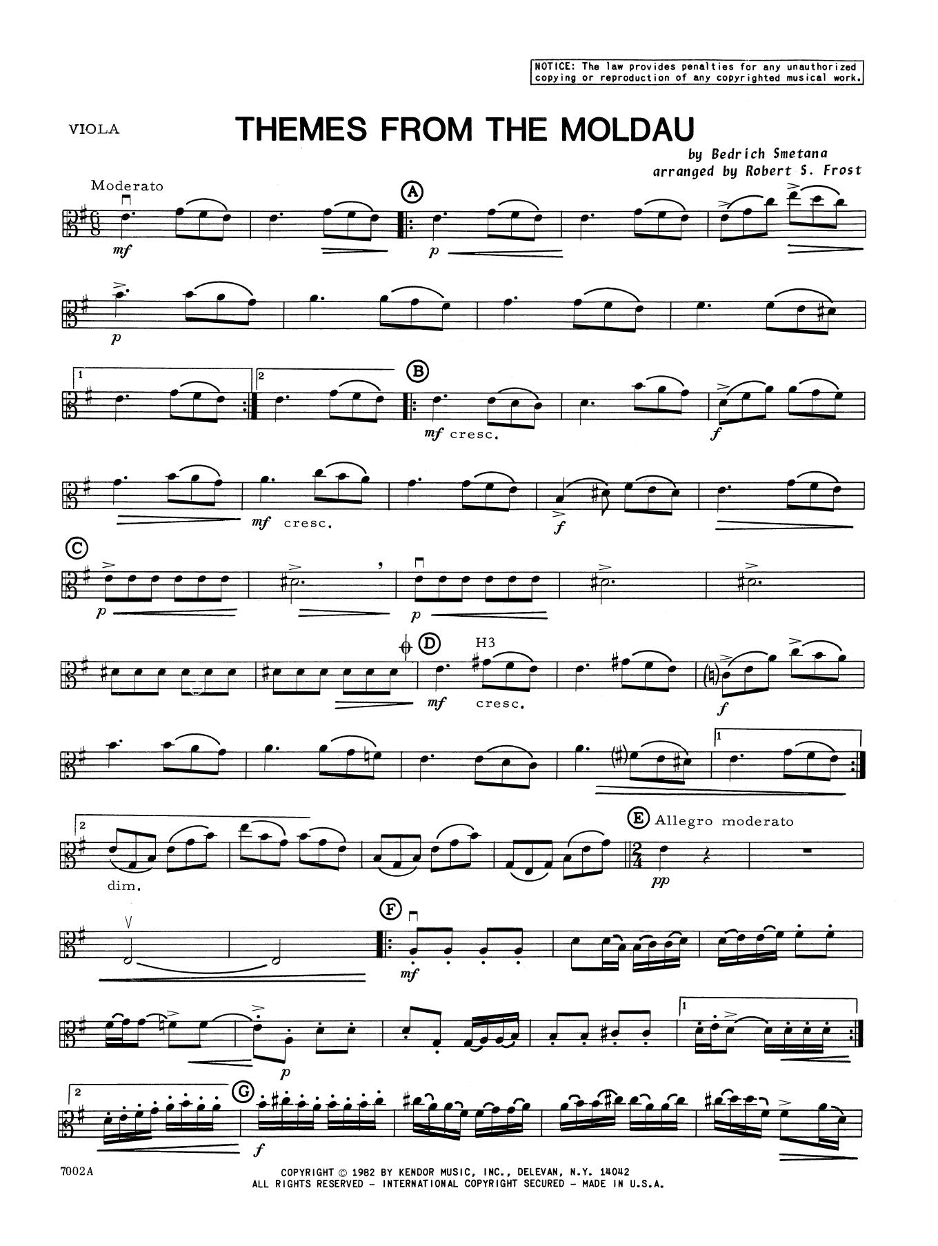 Smetana - Themes From The Moldau - Viola