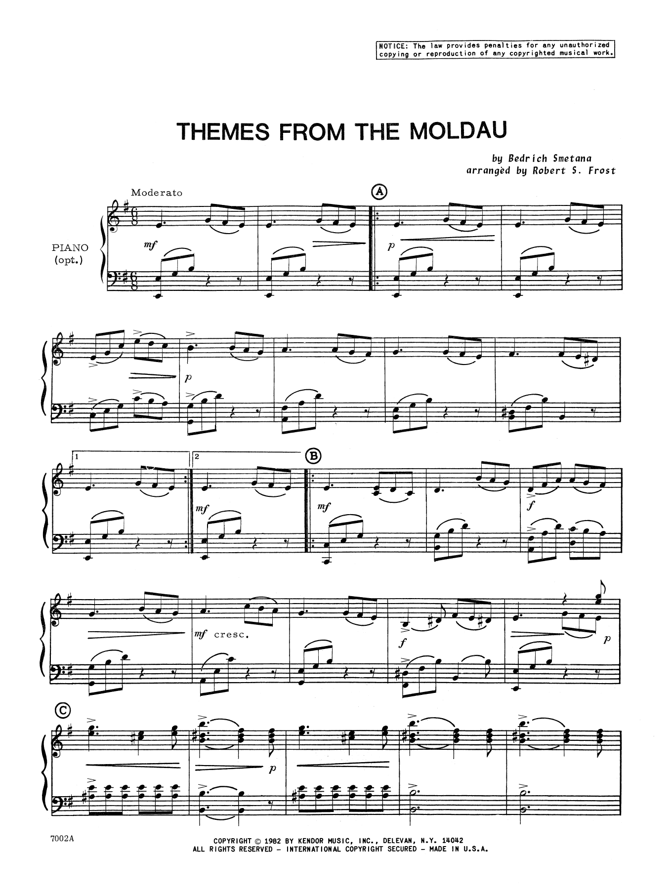 Smetana - Themes From The Moldau - Piano Accompaniment