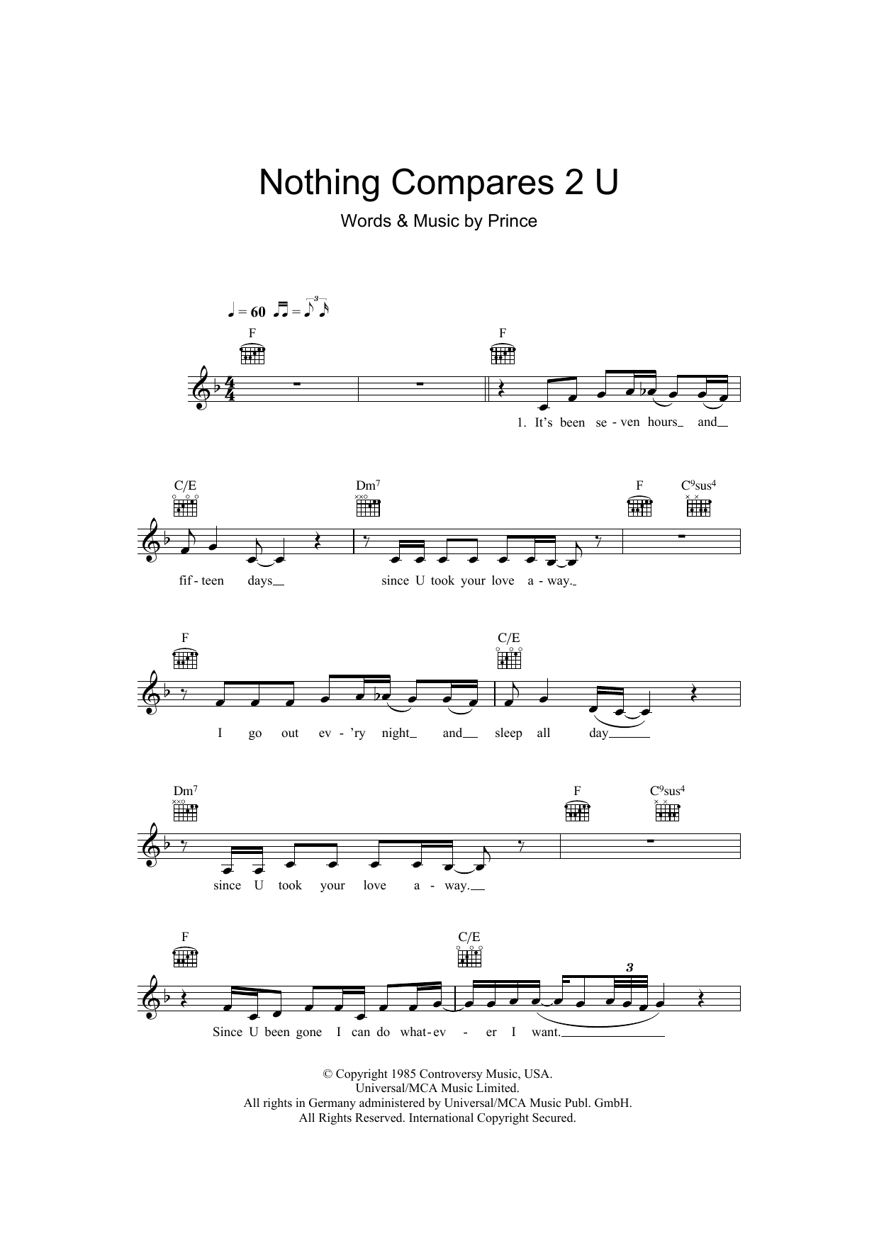 Sheet Music Digital Files To Print Licensed Sinead Oconnor
