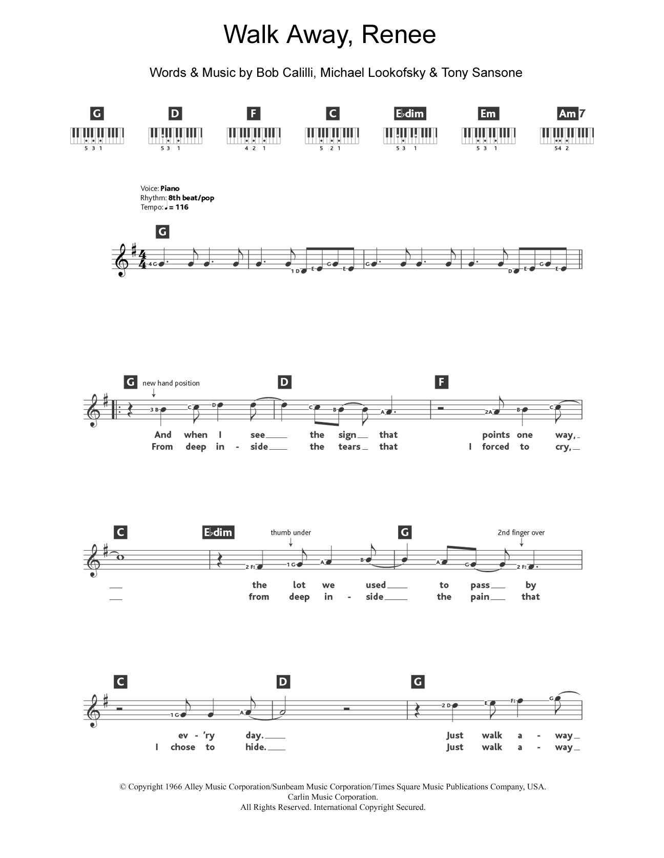 Sheet Music Digital Files To Print Licensed The Left Banke Digital