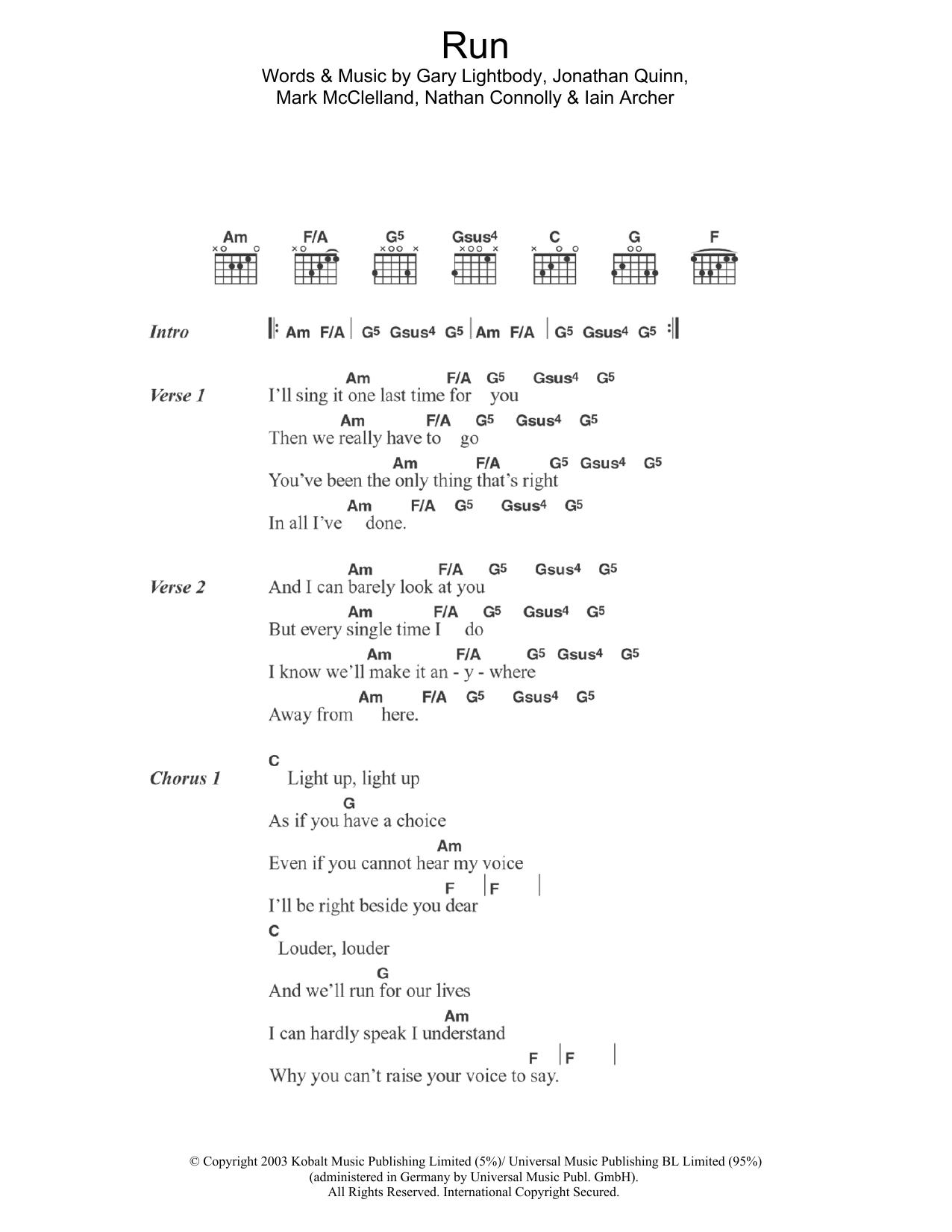 Sheet Music Digital Files To Print Licensed Snow Patrol Digital