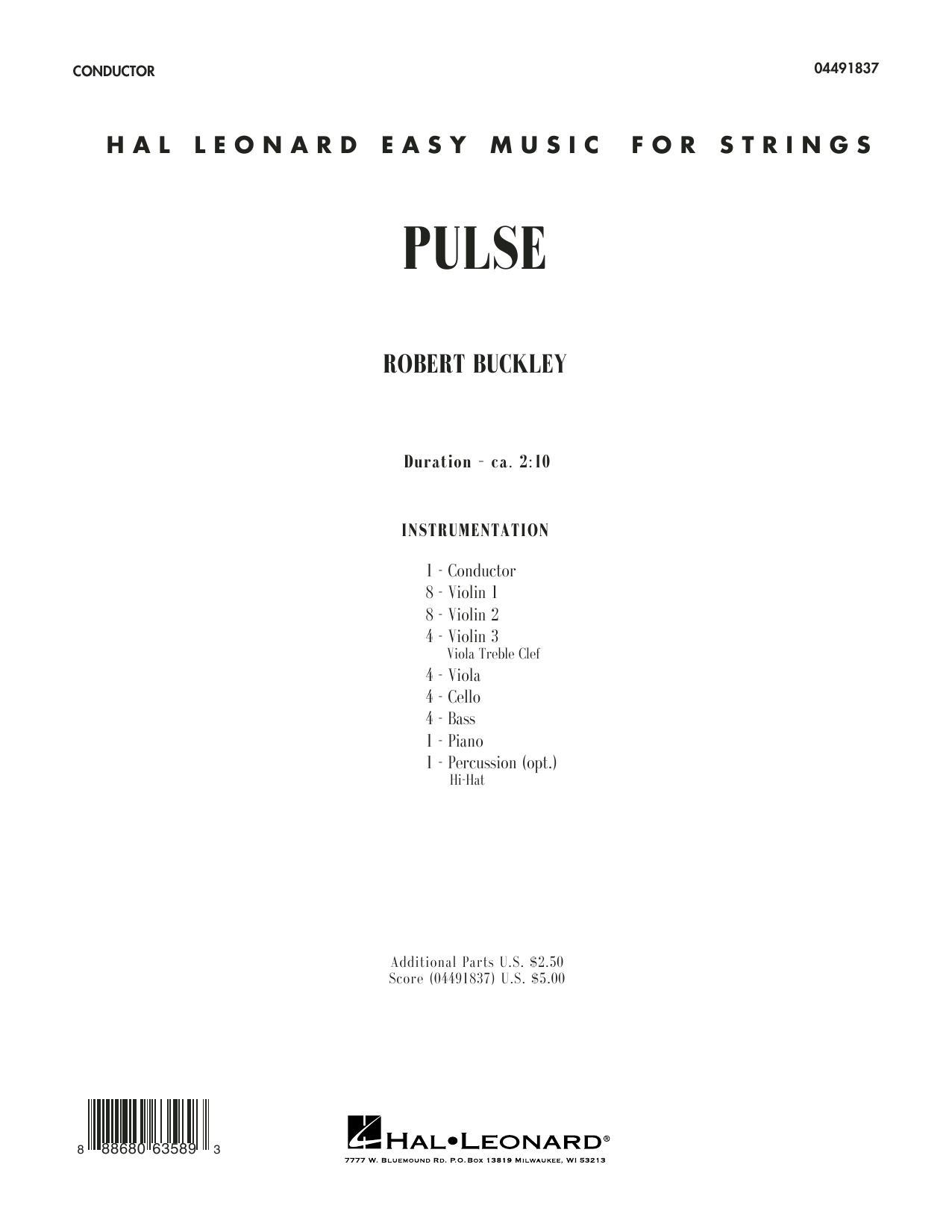Pulse (COMPLETE) sheet music for orchestra by Robert Buckley