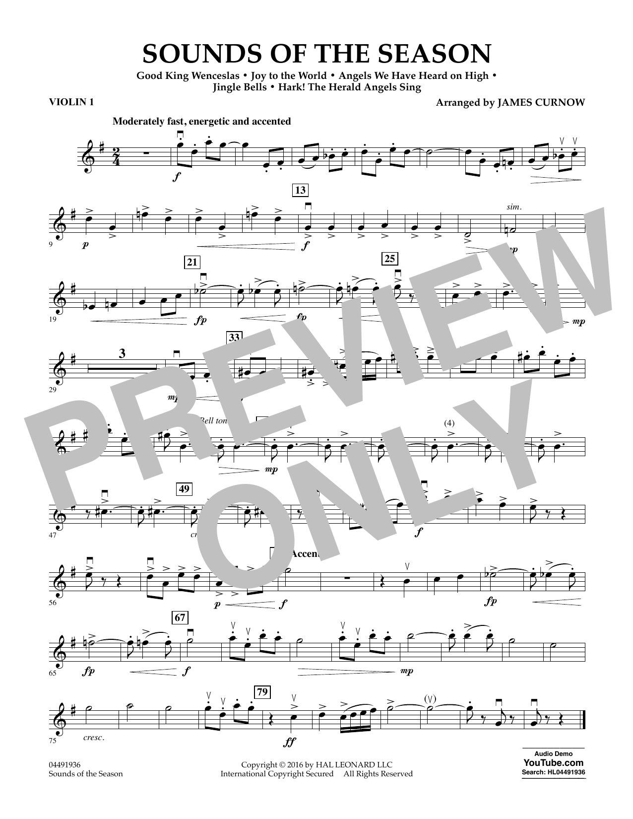 Sounds of the Season - Violin 1