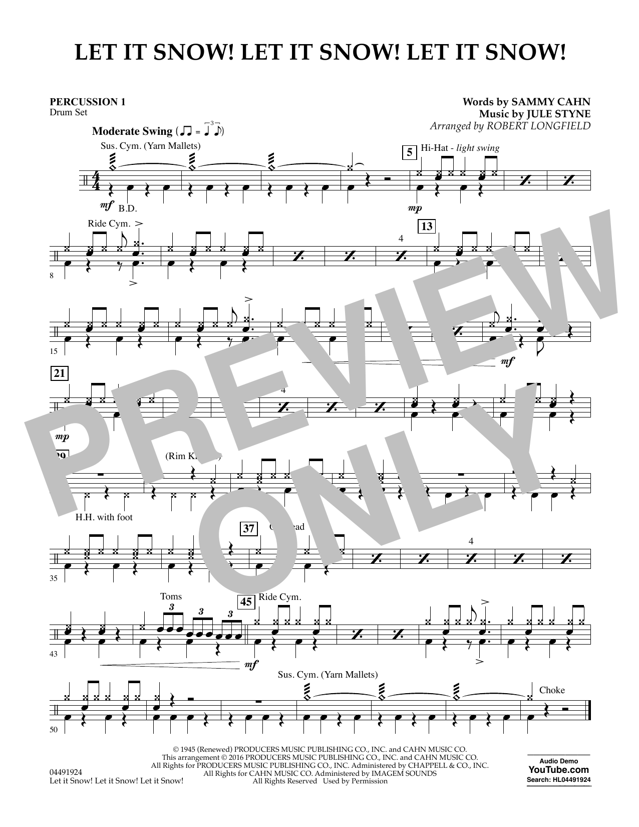Joe Nichols - Let It Snow! Let It Snow! Let It Snow! - Percussion 1