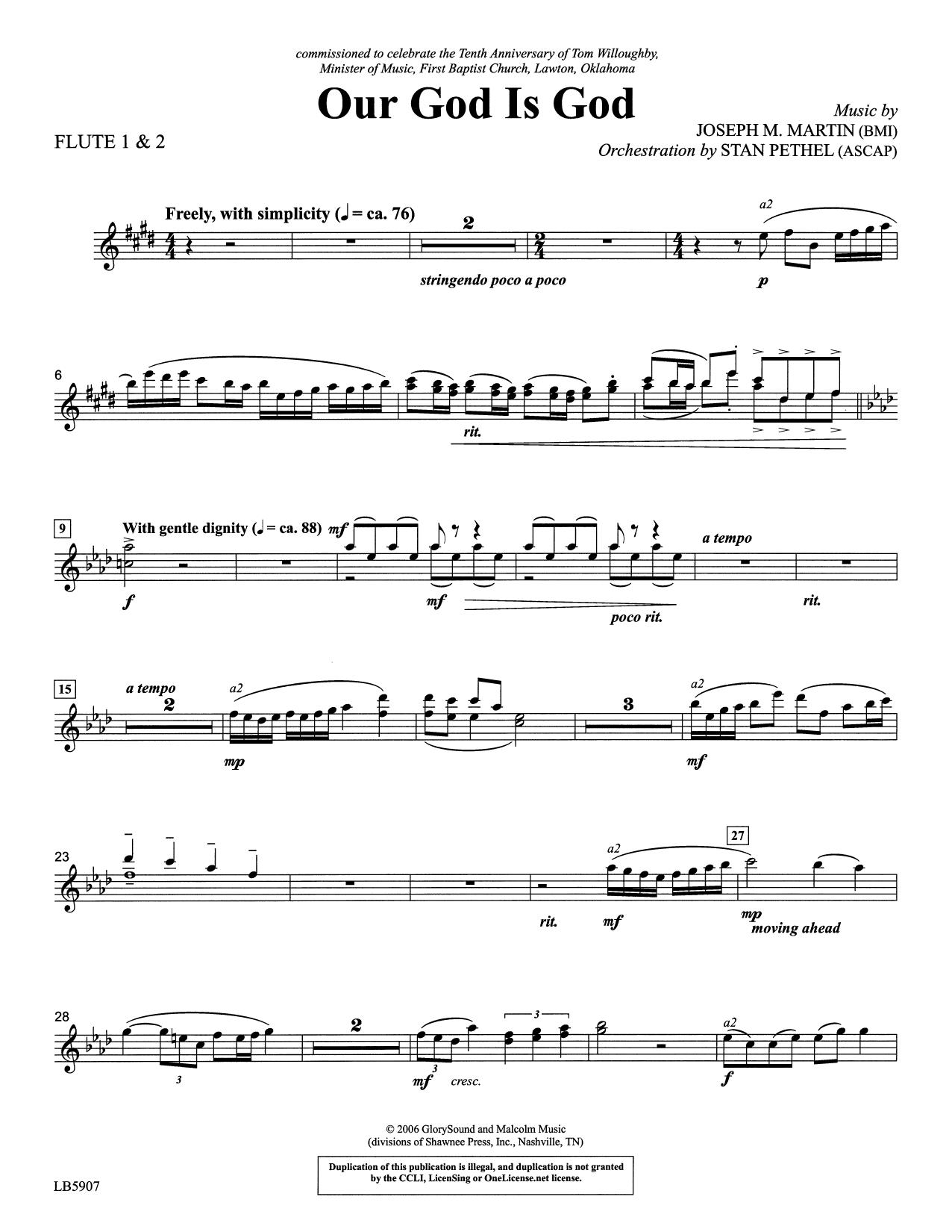 Our God Is God - 1st & 2nd Flute