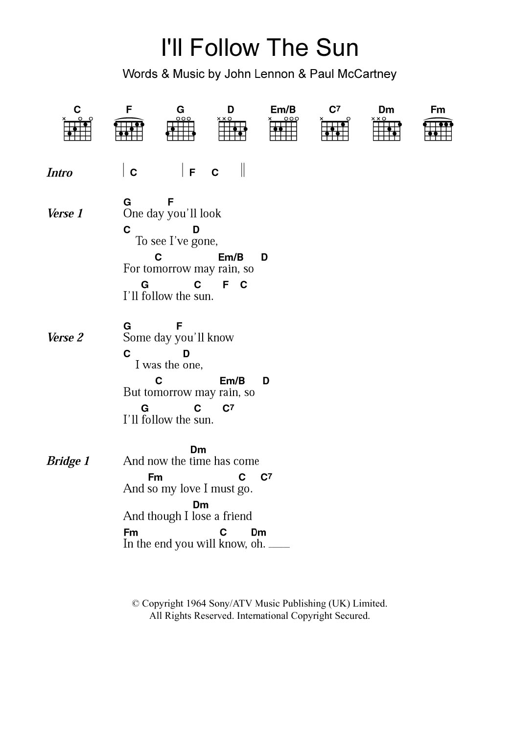 Pop Music Guitar Chord At Stantons Sheet Music