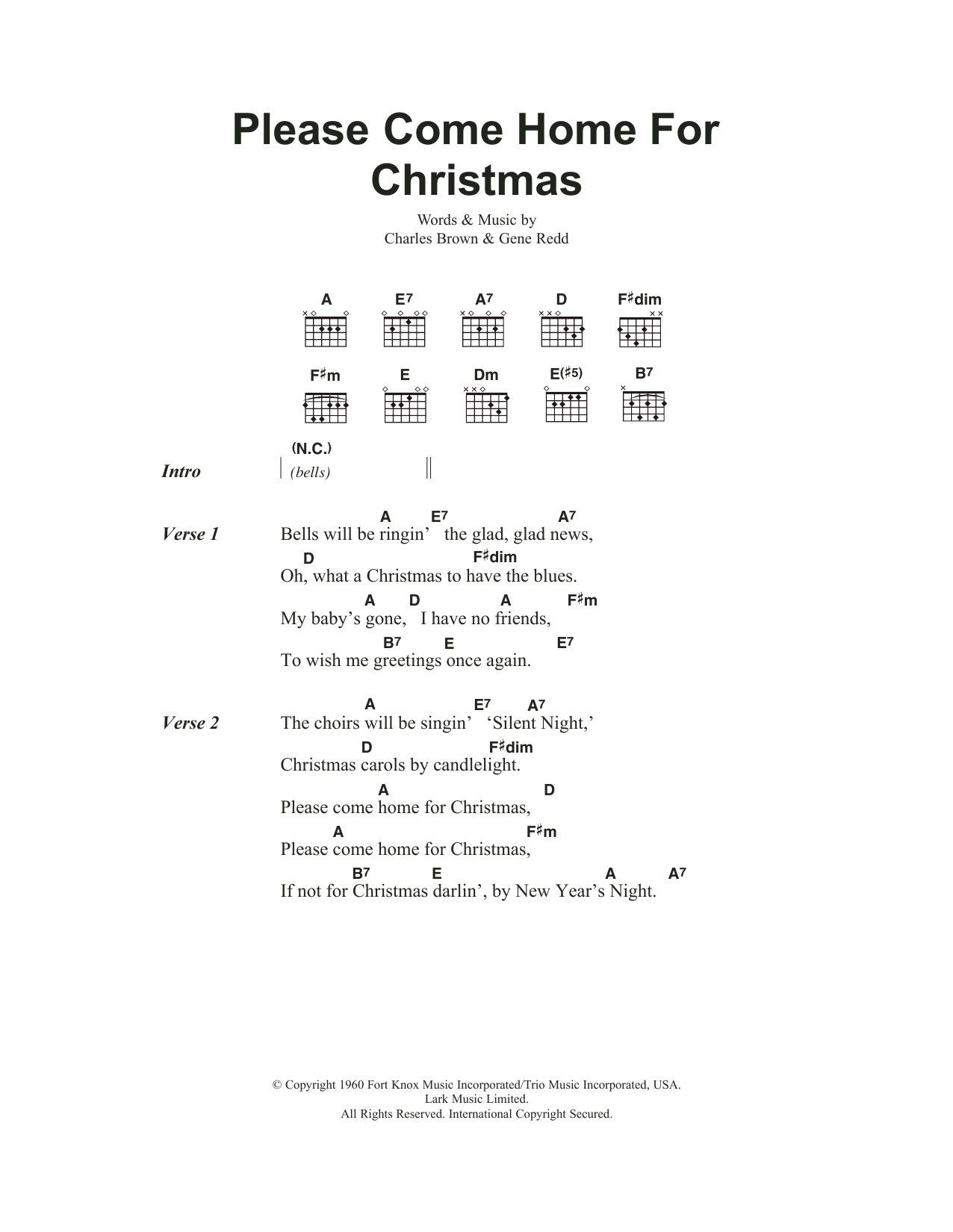 Eagles - Please Come Home For Christmas at Stanton\'s Sheet Music