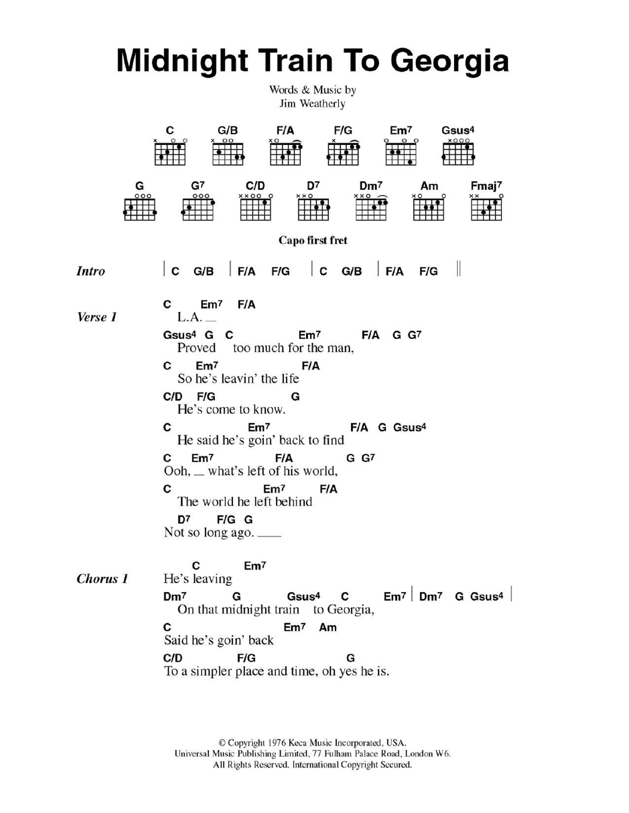 Sheet Music Digital Files To Print - Licensed Gladys Knight & The