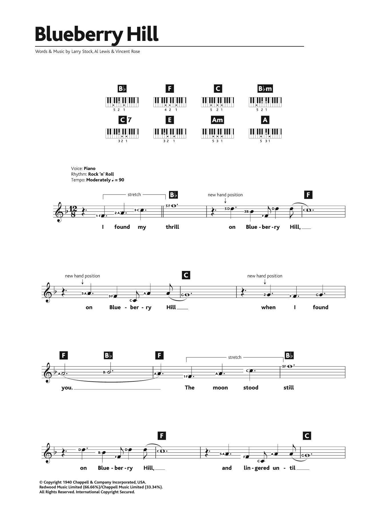 Sheet music digital files to print licensed fats domino digital sheet music digital by merriam music hexwebz Images