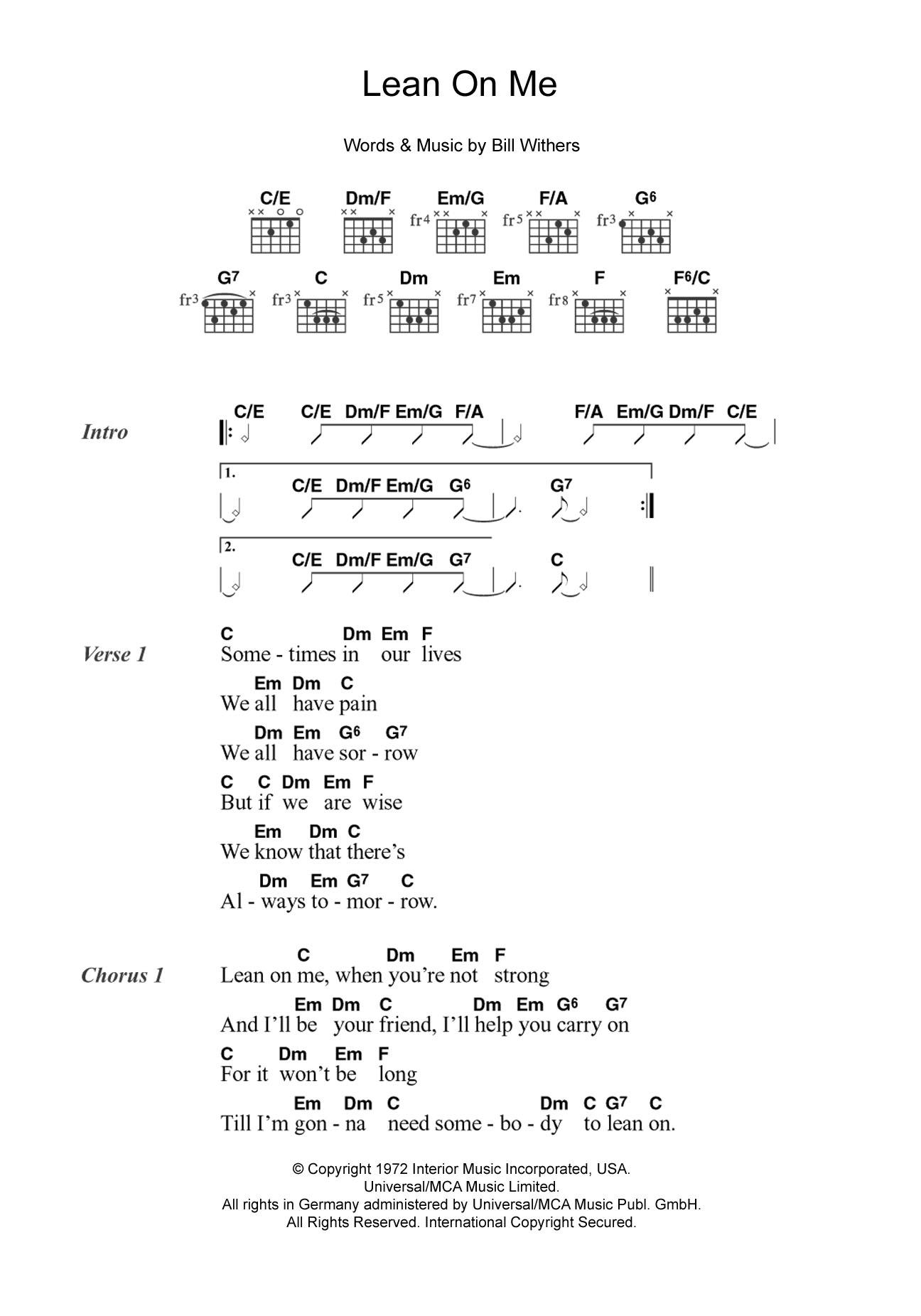 Guitar Chord At Stantons Sheet Music