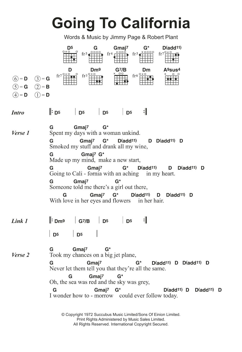 Guitar Chord L At Stantons Sheet Music