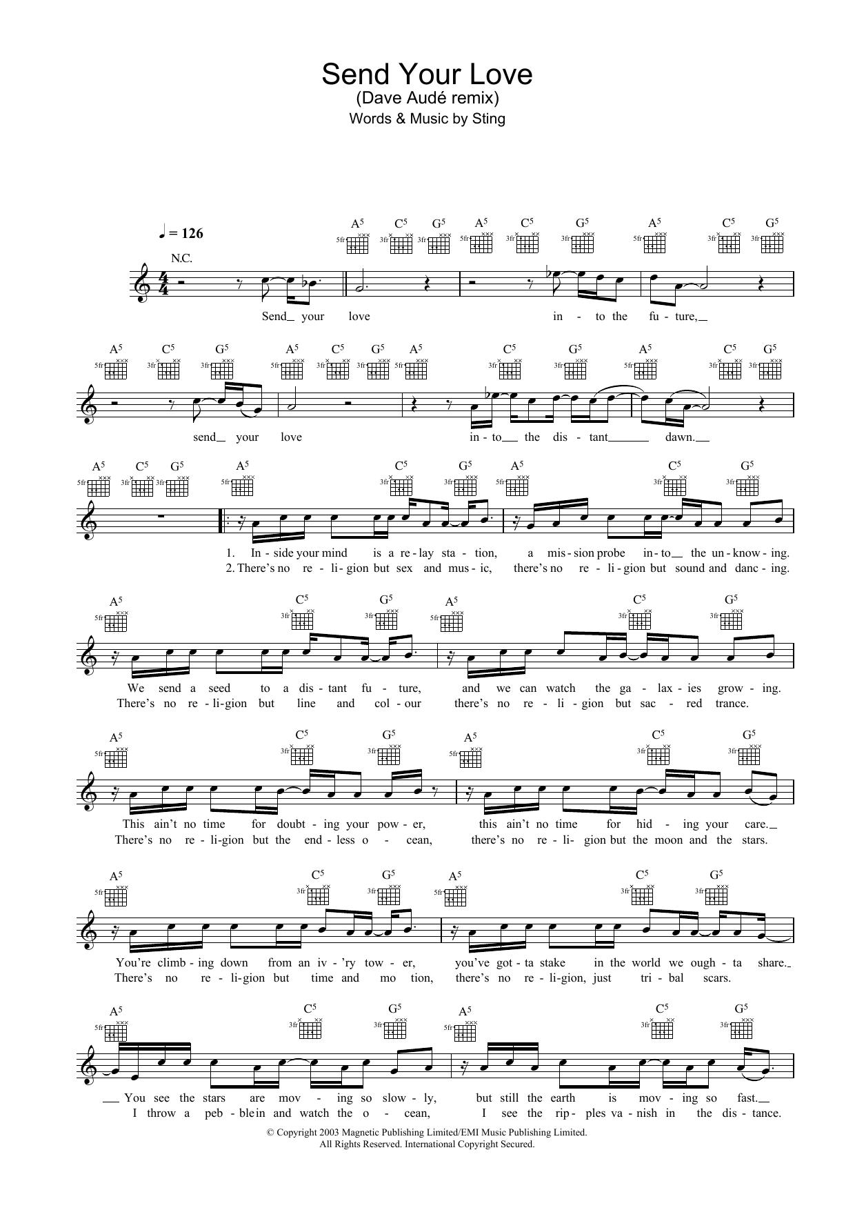 Sting - Send Your Love (Dave Aude remix)