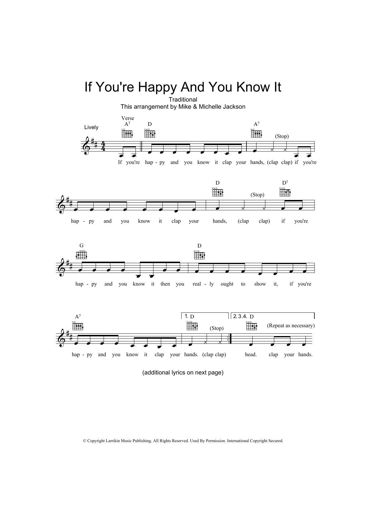 Traditional - If You're Happy And You Know It